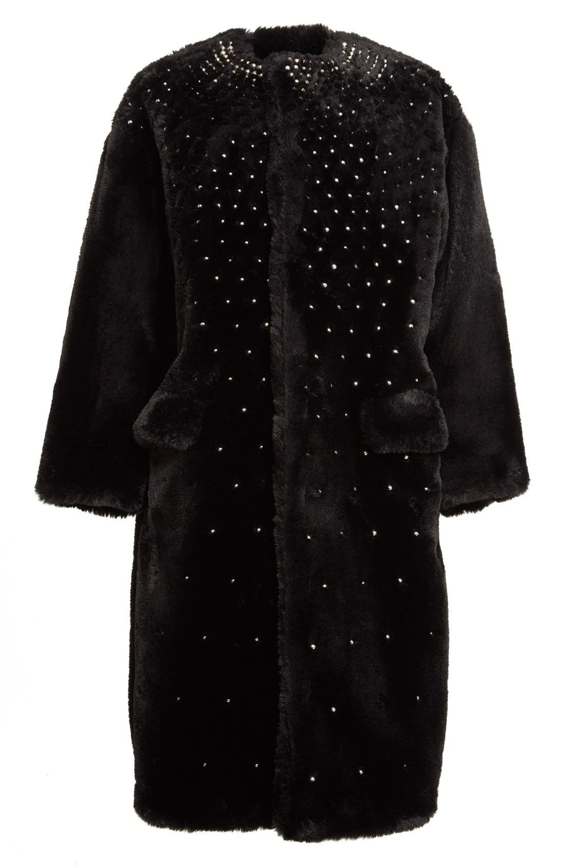 Alternate Image 4  - noir kei ninomiya Studded Faux Fur Coat