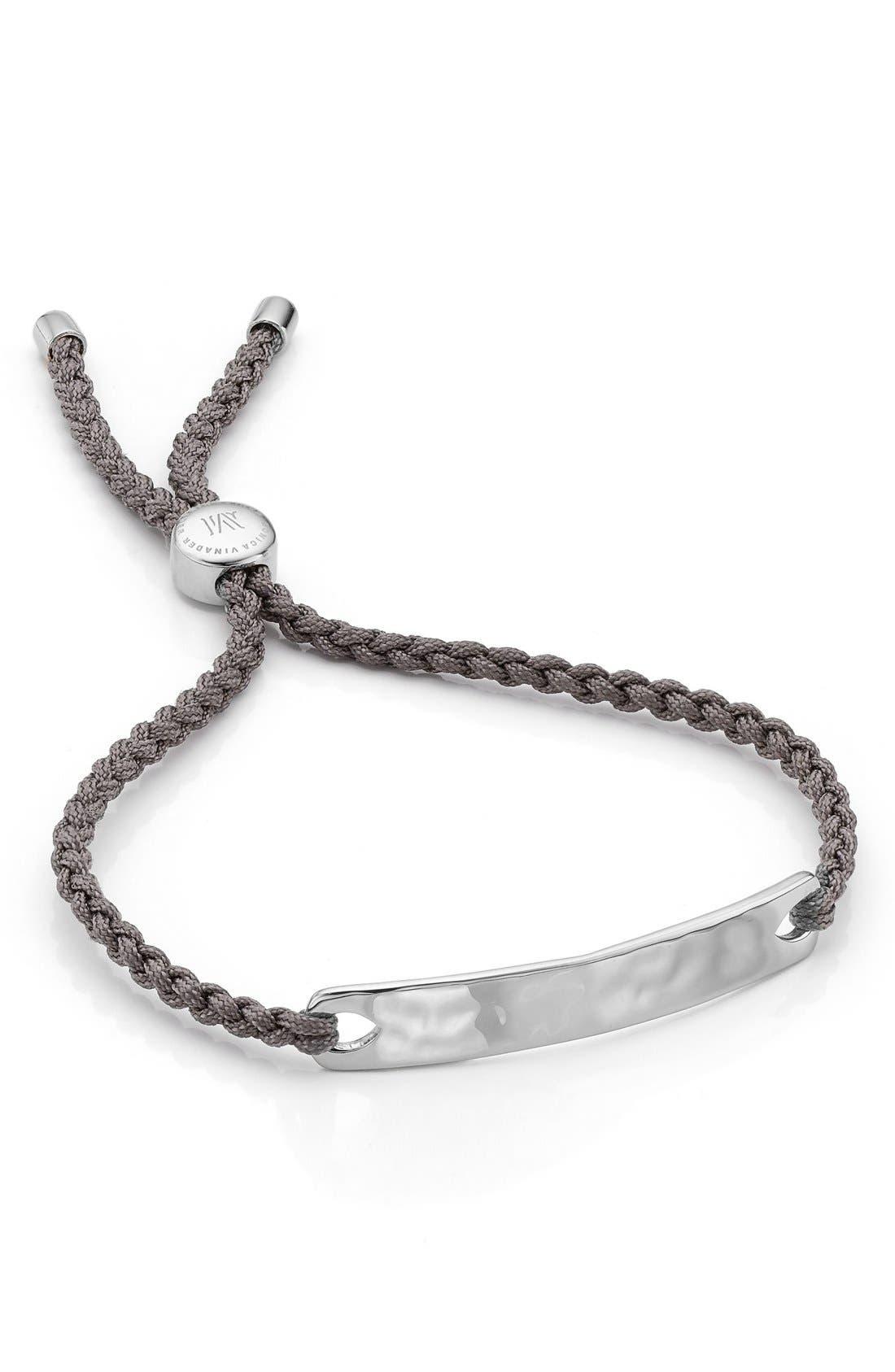 Havana Friendship Bracelet- Mink, Sterling Silver Monica Vinader