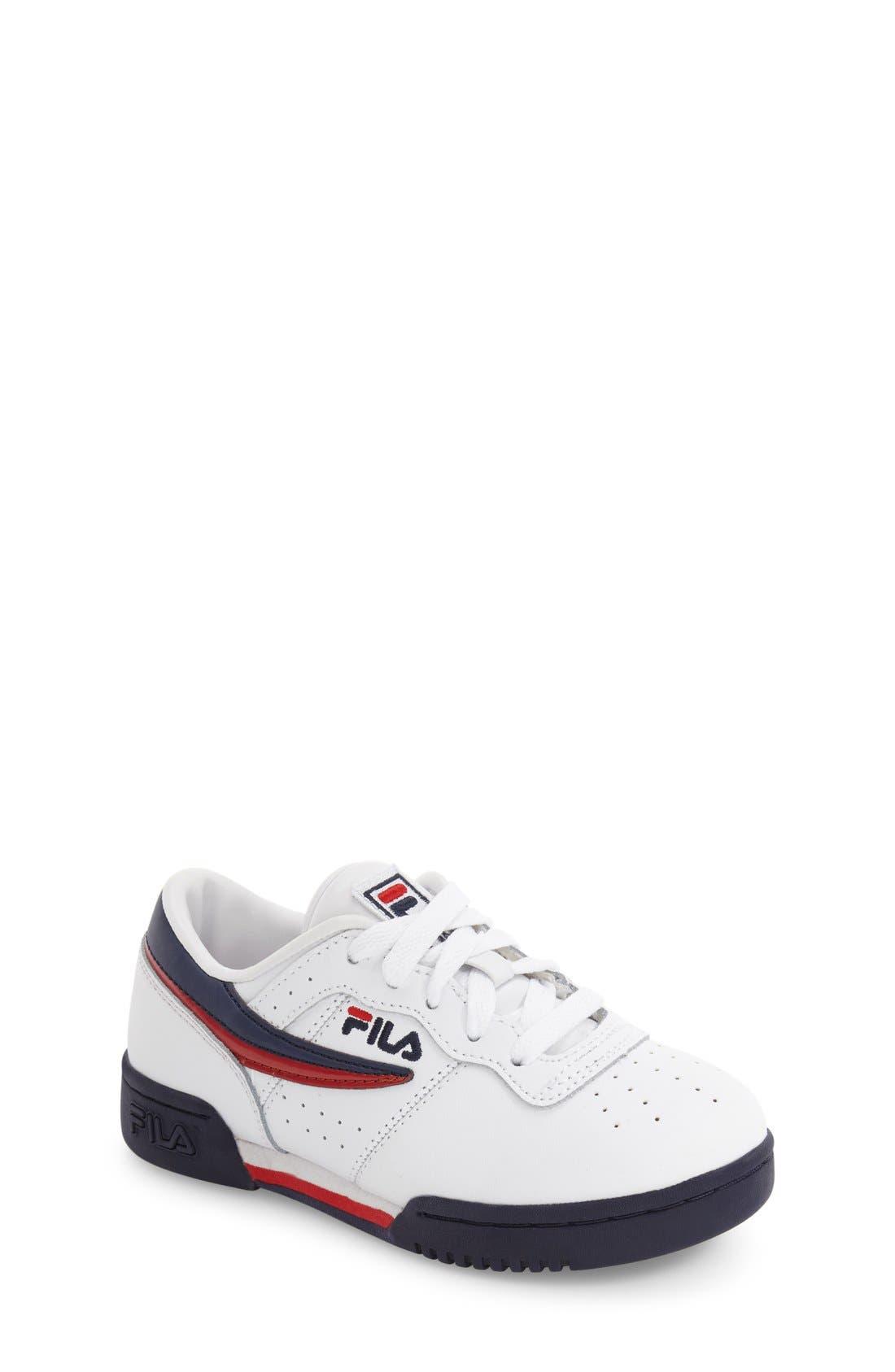 Original Sneaker,                         Main,                         color, White/ Navy/ Red