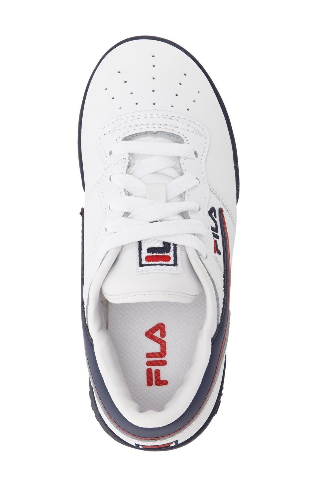 Original Sneaker,                             Alternate thumbnail 3, color,                             White/ Navy/ Red