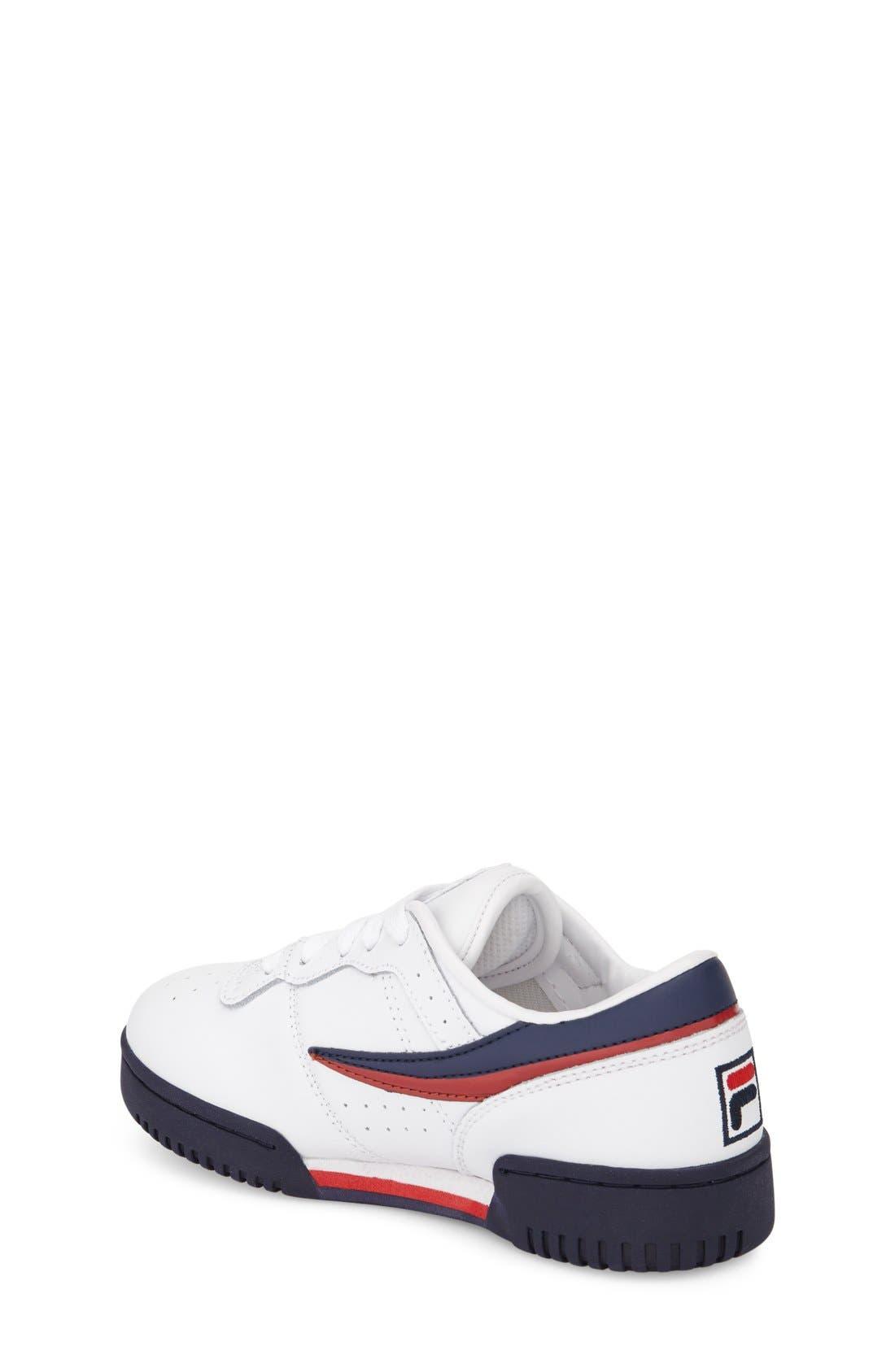 Original Sneaker,                             Alternate thumbnail 2, color,                             White/ Navy/ Red