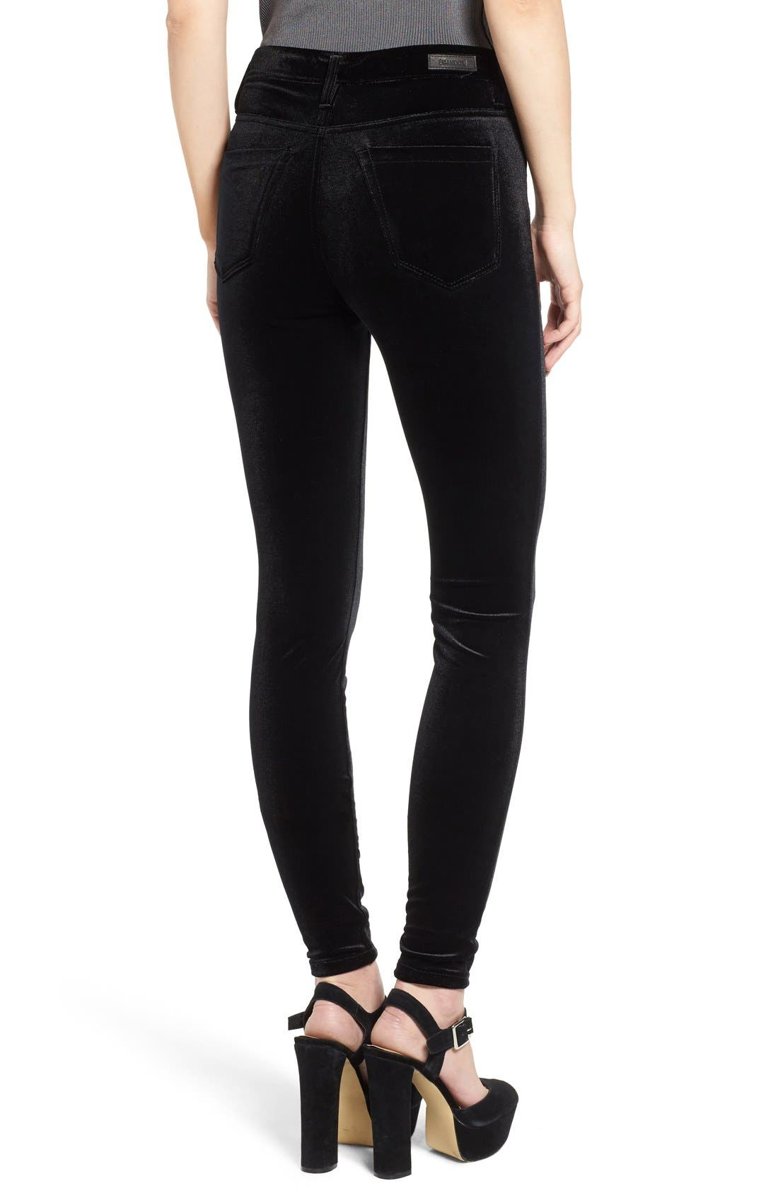 Alternate Image 2  - BLANKNYC Velvet High Rise Skinny Jeans
