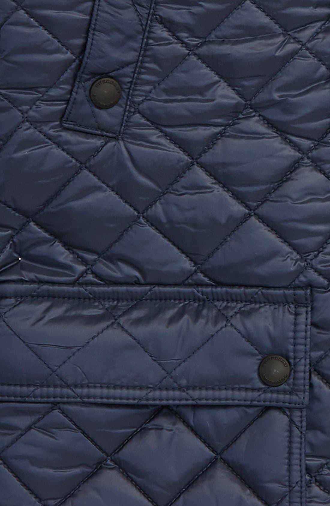Charlie Quilted Field Jacket,                             Alternate thumbnail 2, color,                             Ink Blue