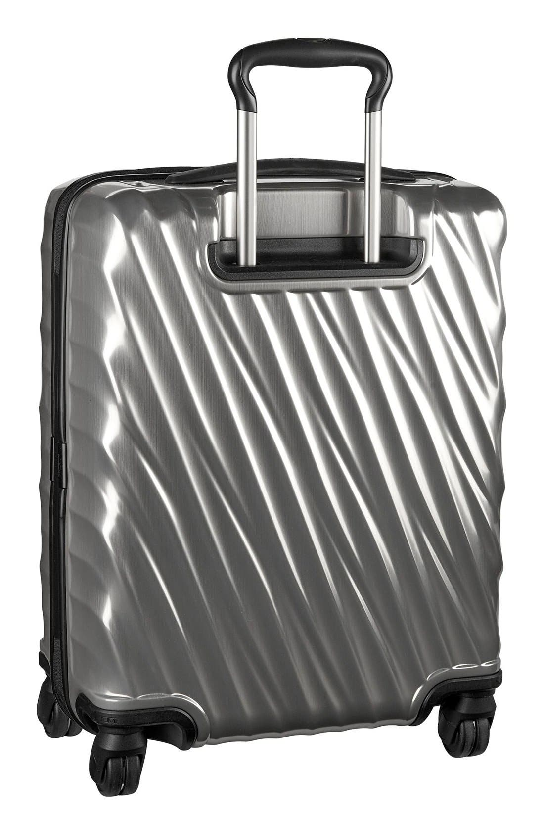 19 Degree 22 Inch Continental Wheeled Carry-On,                             Alternate thumbnail 2, color,                             Silver