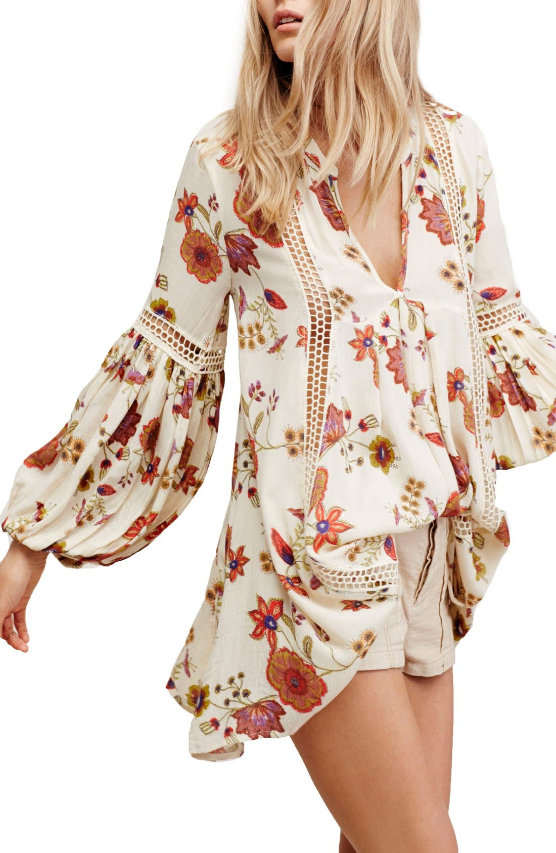 Main Image - Free People Just the Two of Us Floral Tunic