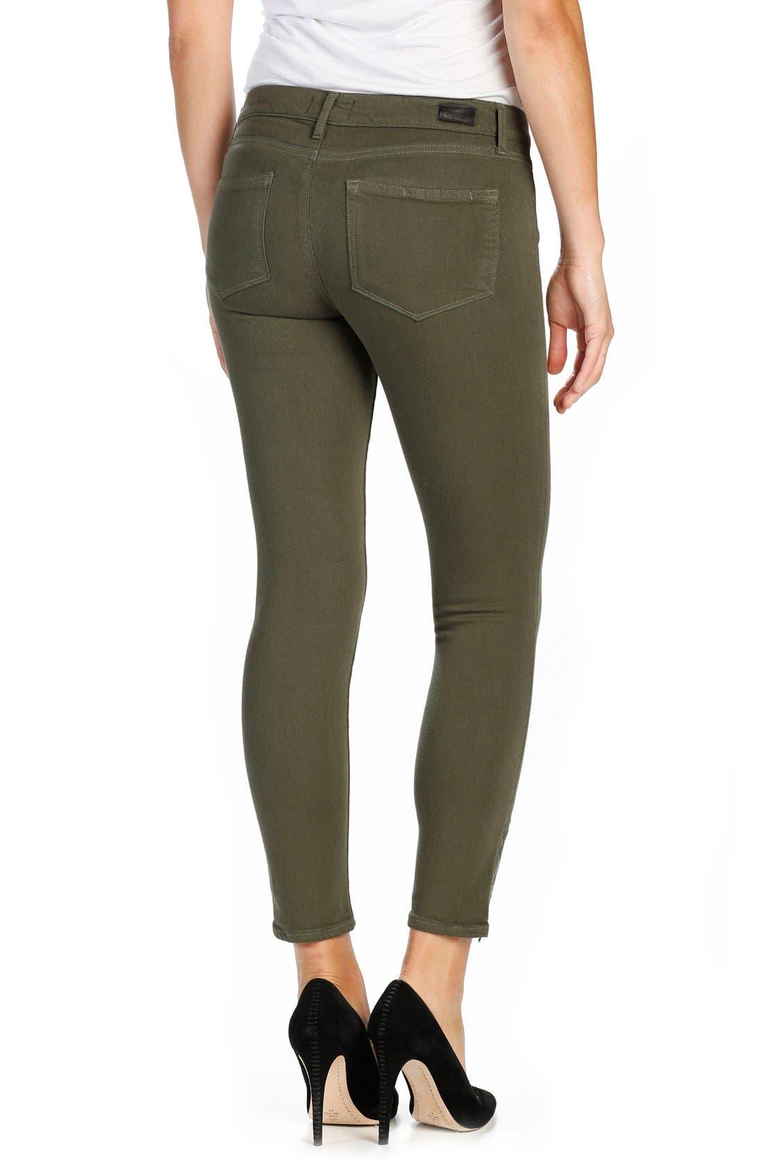 Alternate Image 2  - PAIGE Transcend Shay Ankle Skinny Jeans (Olive Leaf)