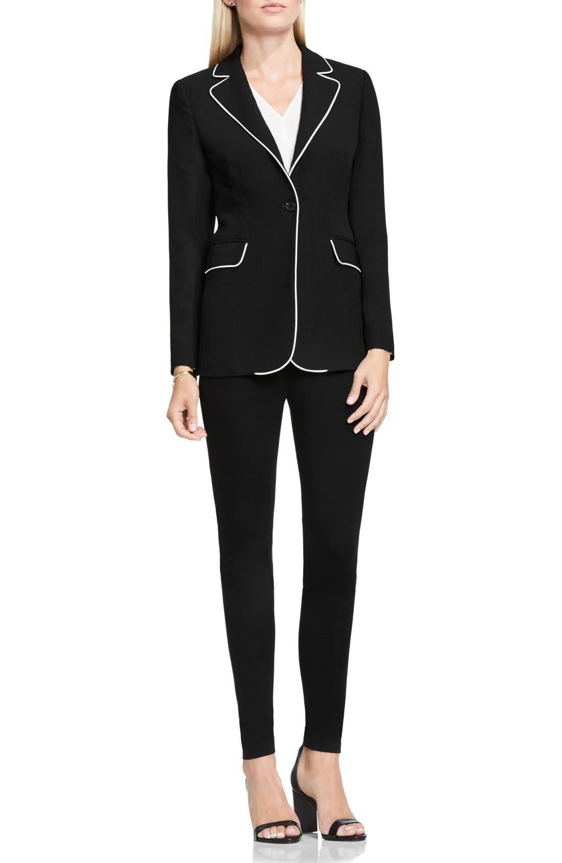 Alternate Image 2  - Vince Camuto Contrast Piping Blazer