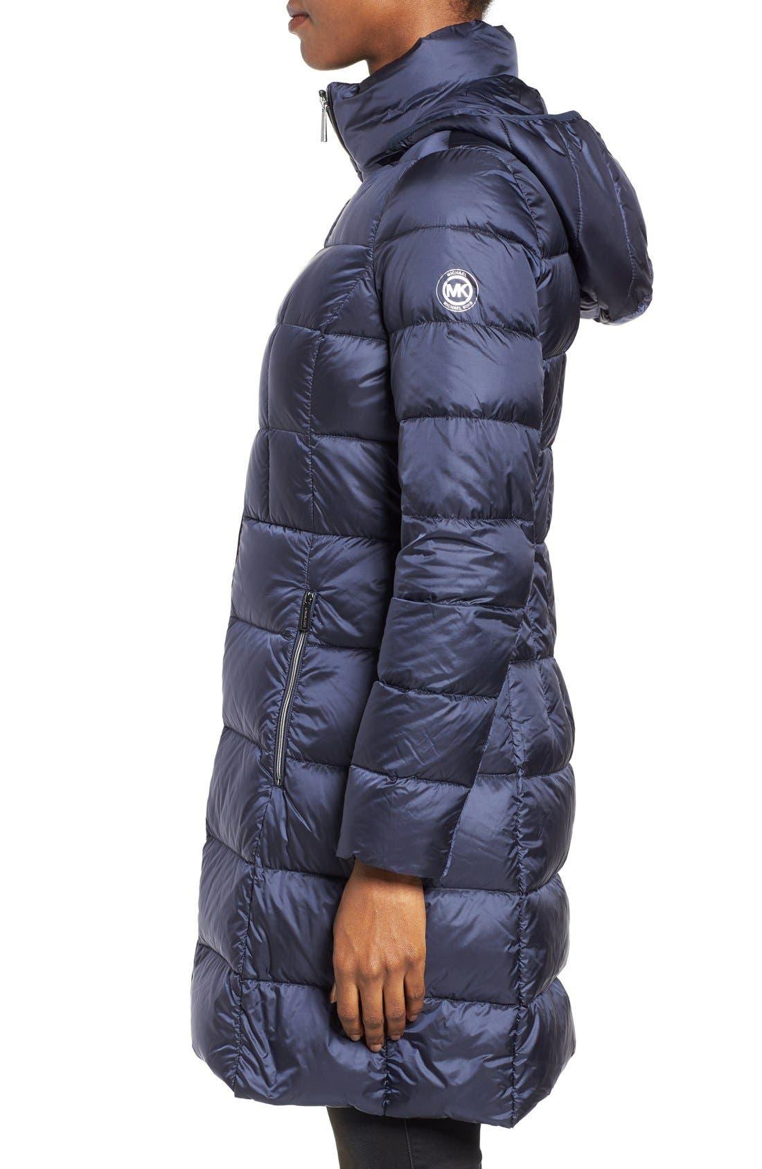 Packable Down Coat,                             Alternate thumbnail 3, color,                             Dark Blue