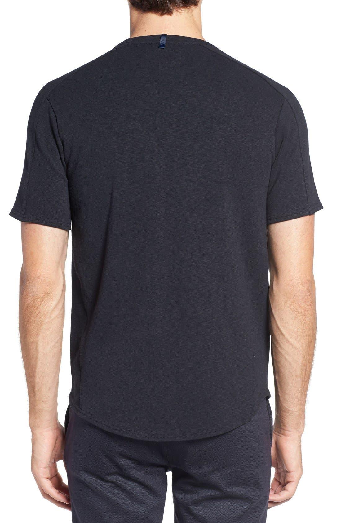 Douglas Cotton Blend T-Shirt,                             Alternate thumbnail 2, color,                             Black