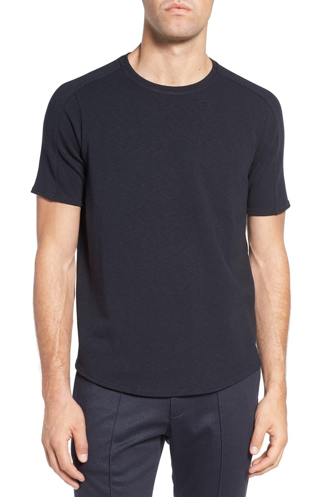 Douglas Cotton Blend T-Shirt,                             Main thumbnail 1, color,                             Black