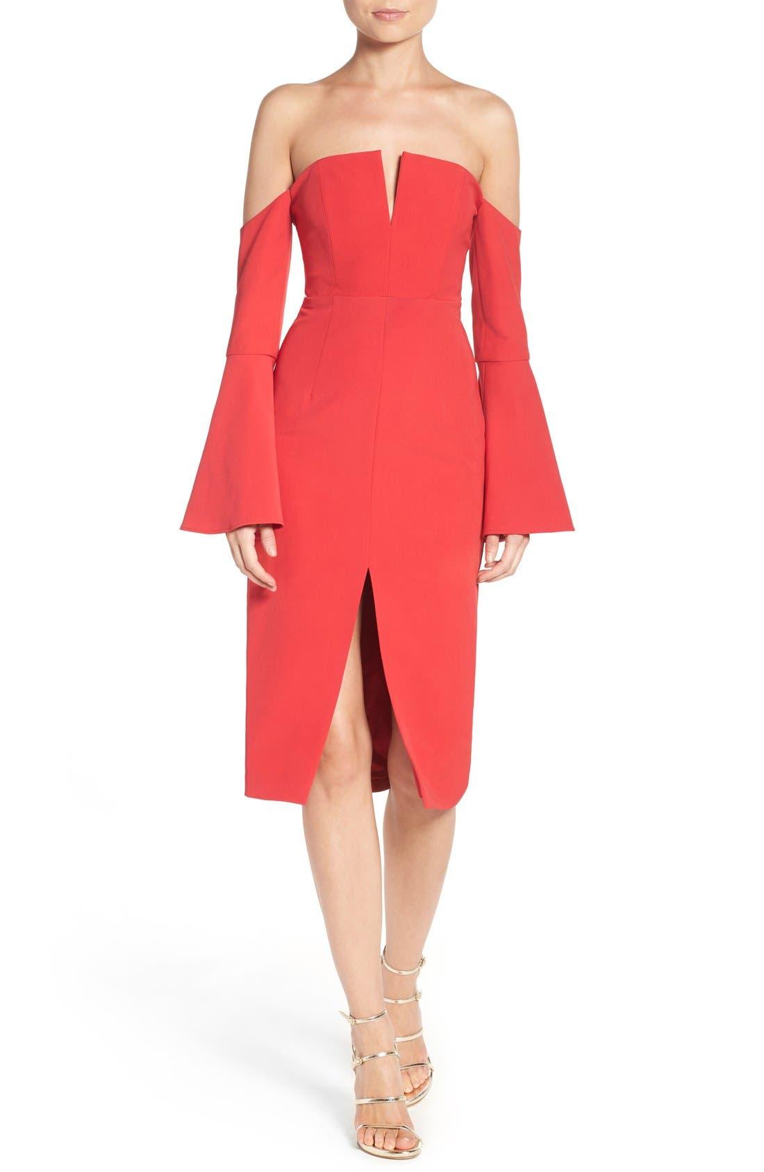 Alternate Image 4  - Bardot Jasmine Off the Shoulder Sheath Dress