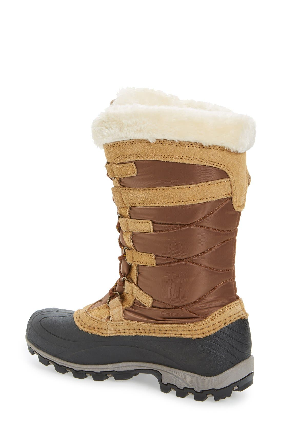 Snowvalley Waterproof Boot with Faux Fur Cuff,                             Alternate thumbnail 2, color,                             Tan