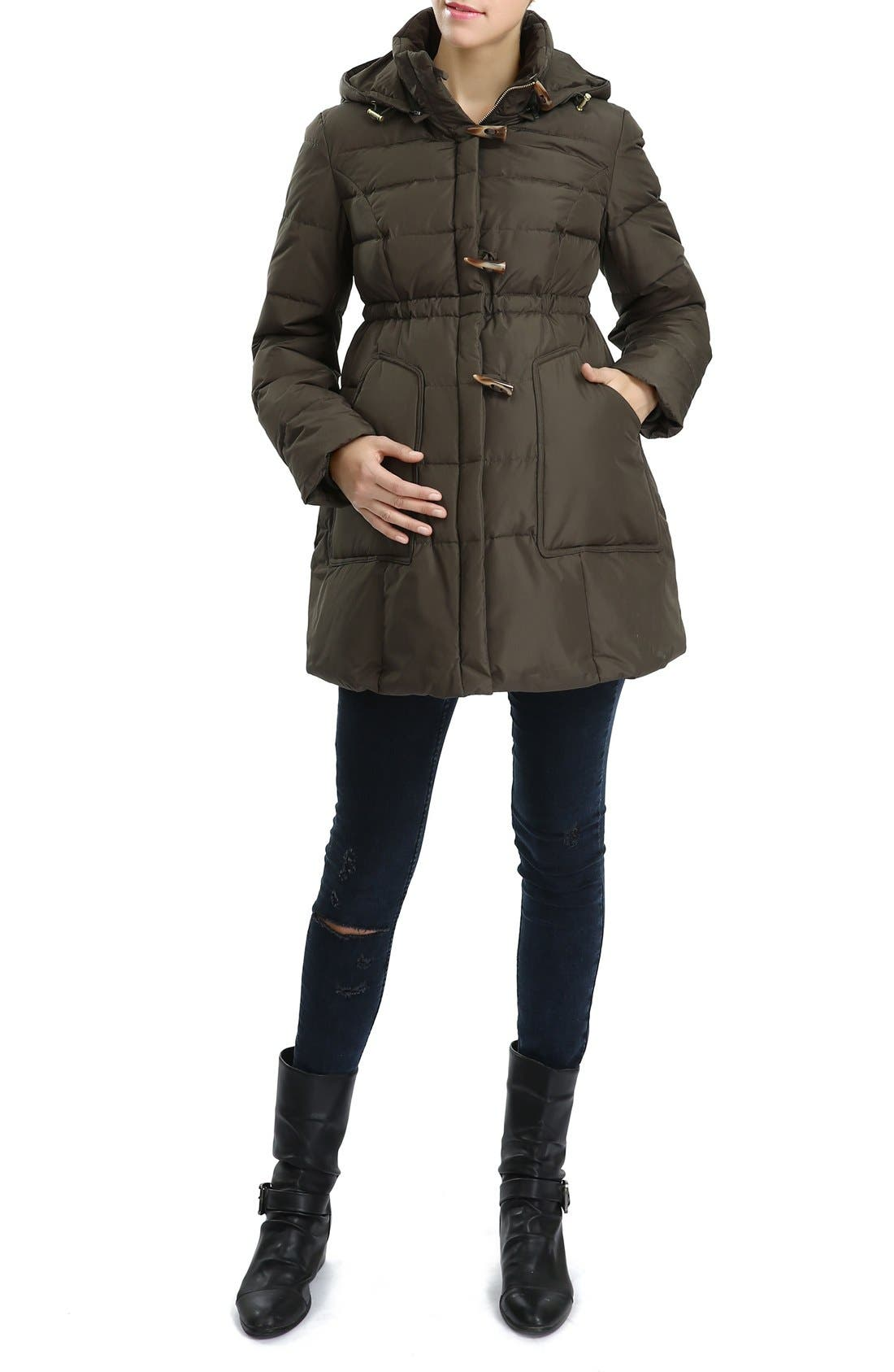Alternate Image 1 Selected - Kimi and Kai 'Marlo' Water Resistant Down Maternity Parka