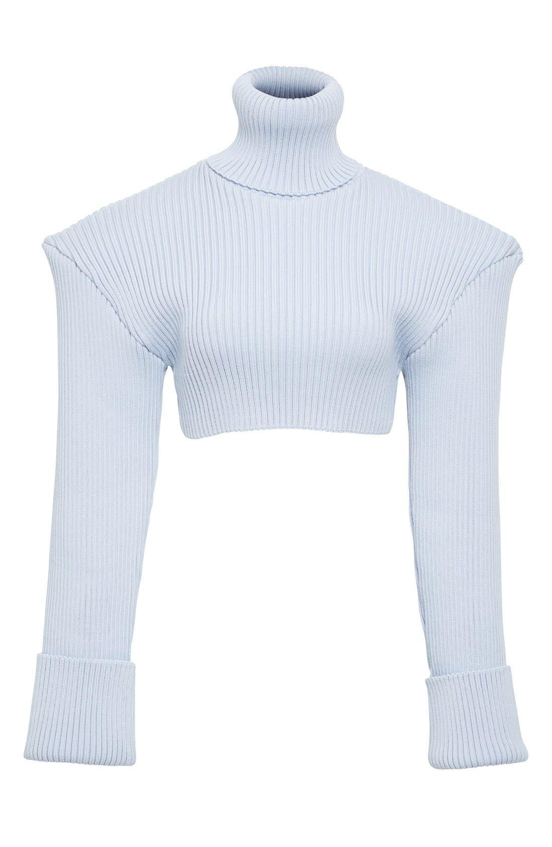Alternate Image 4  - Jacquemus Cropped Football Shoulder Turtleneck Sweater