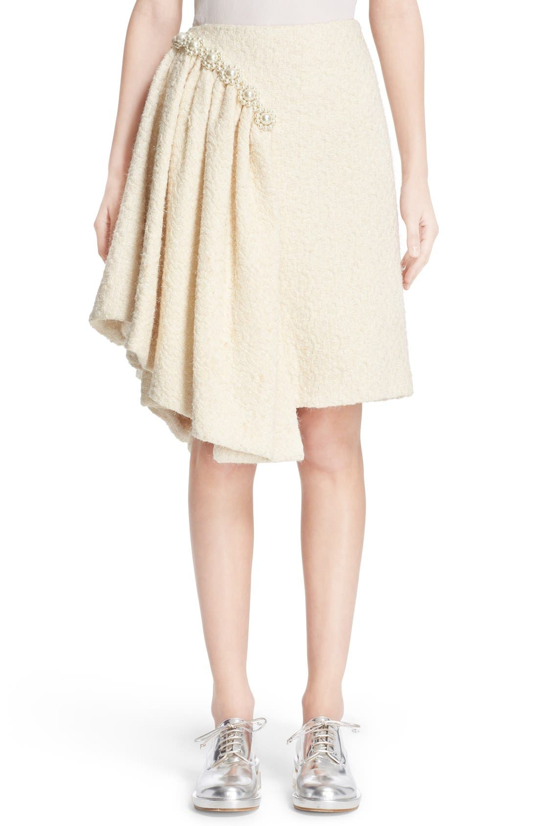 Main Image - Simone Rocha Embellished Sparkle Tweed Skirt (Nordstrom Exclusive)