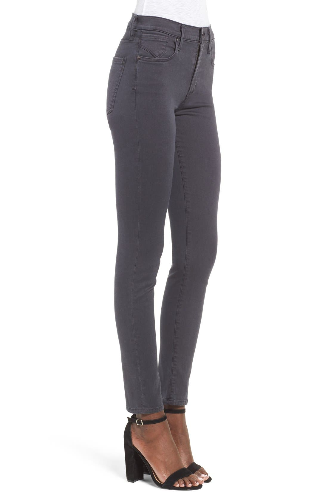 Sophie High Rise Ankle Skinny Jeans,                             Alternate thumbnail 3, color,                             Aura