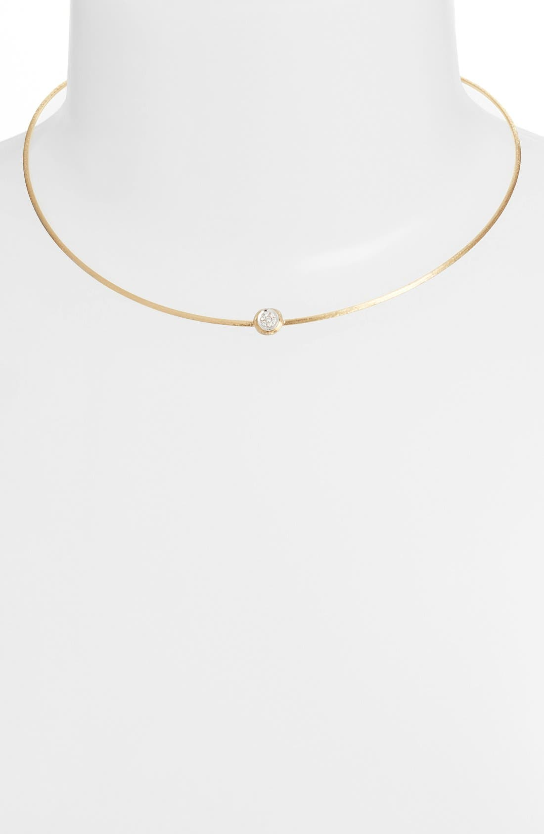 Diamond Collar Necklace,                             Alternate thumbnail 2, color,                             Yellow Gold