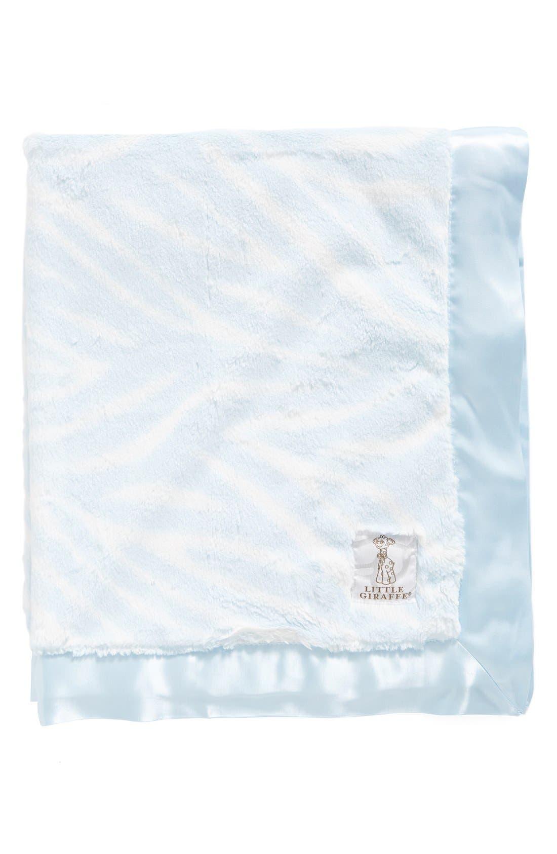 Luxe<sup>™</sup> Zebra Print Blanket,                             Main thumbnail 1, color,                             Blue
