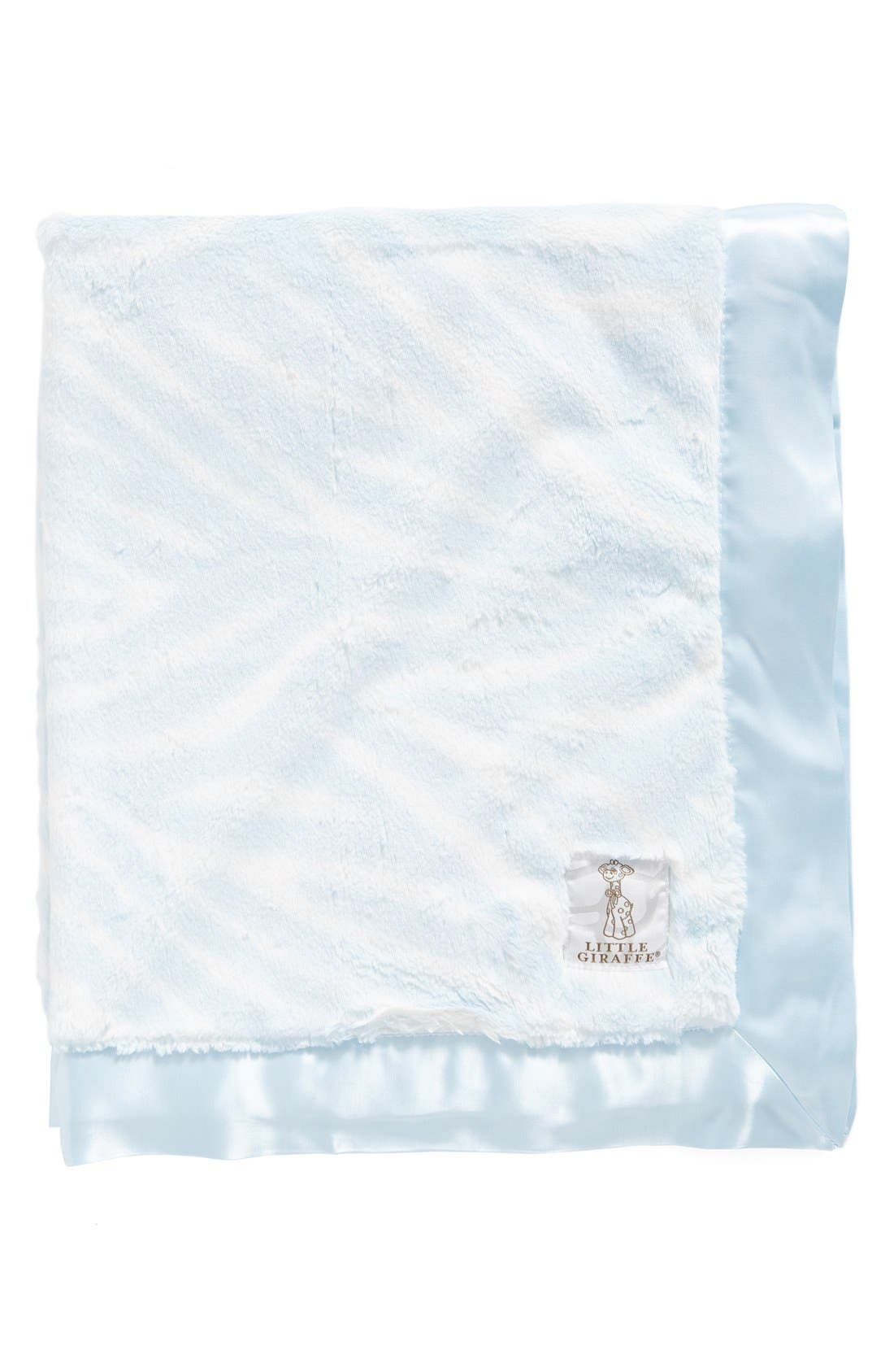 Luxe<sup>™</sup> Zebra Print Blanket,                         Main,                         color, Blue