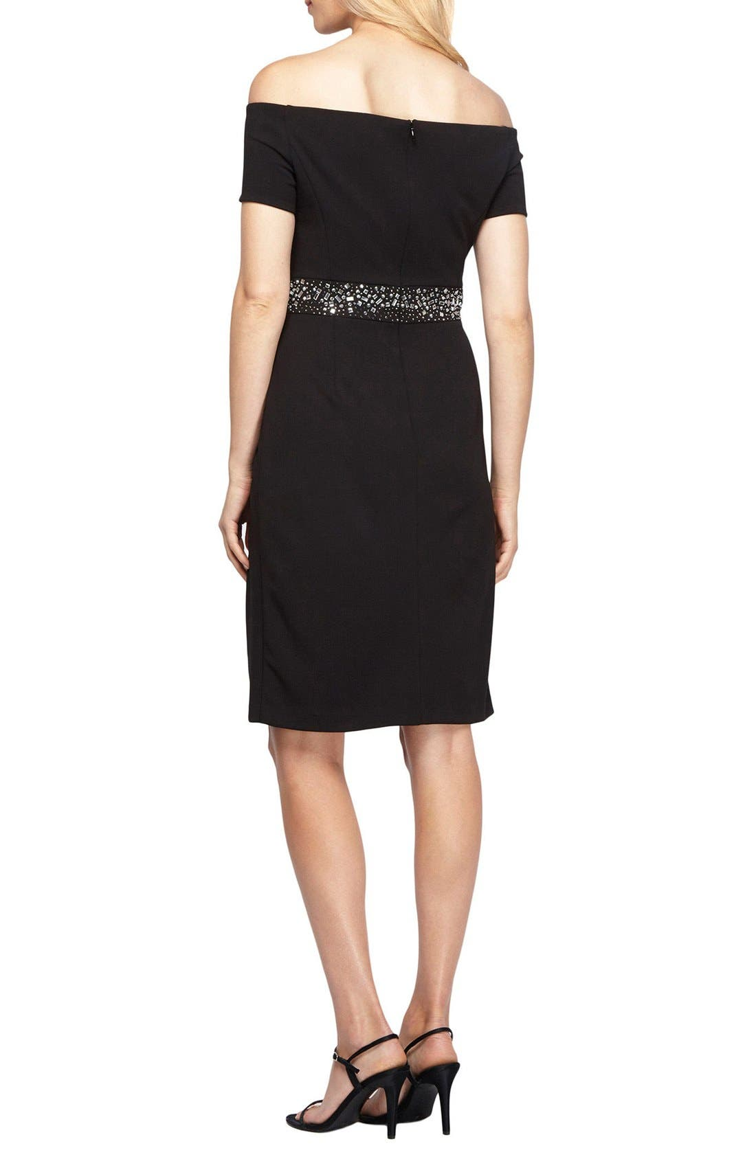 Alternate Image 2  - Alex Evenings Embellished Stretch Dress