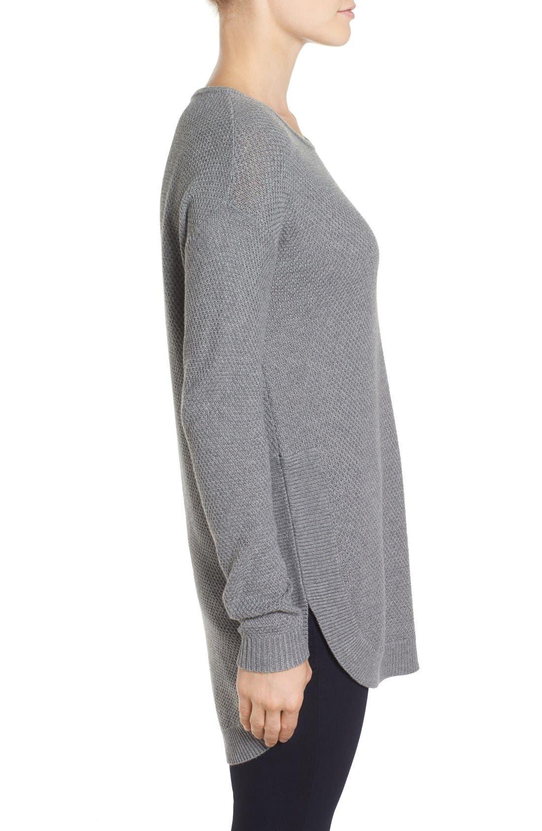 Alternate Image 3  - Caslon® Texture Knit Tunic (Regular & Petite)