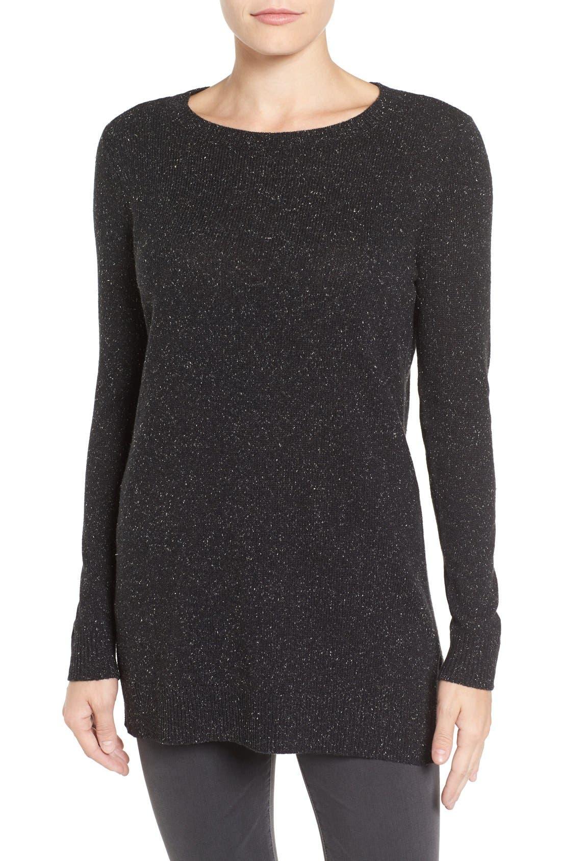 Alternate Image 1 Selected - Halogen® Rib Knit Tunic (Regular & Petite)