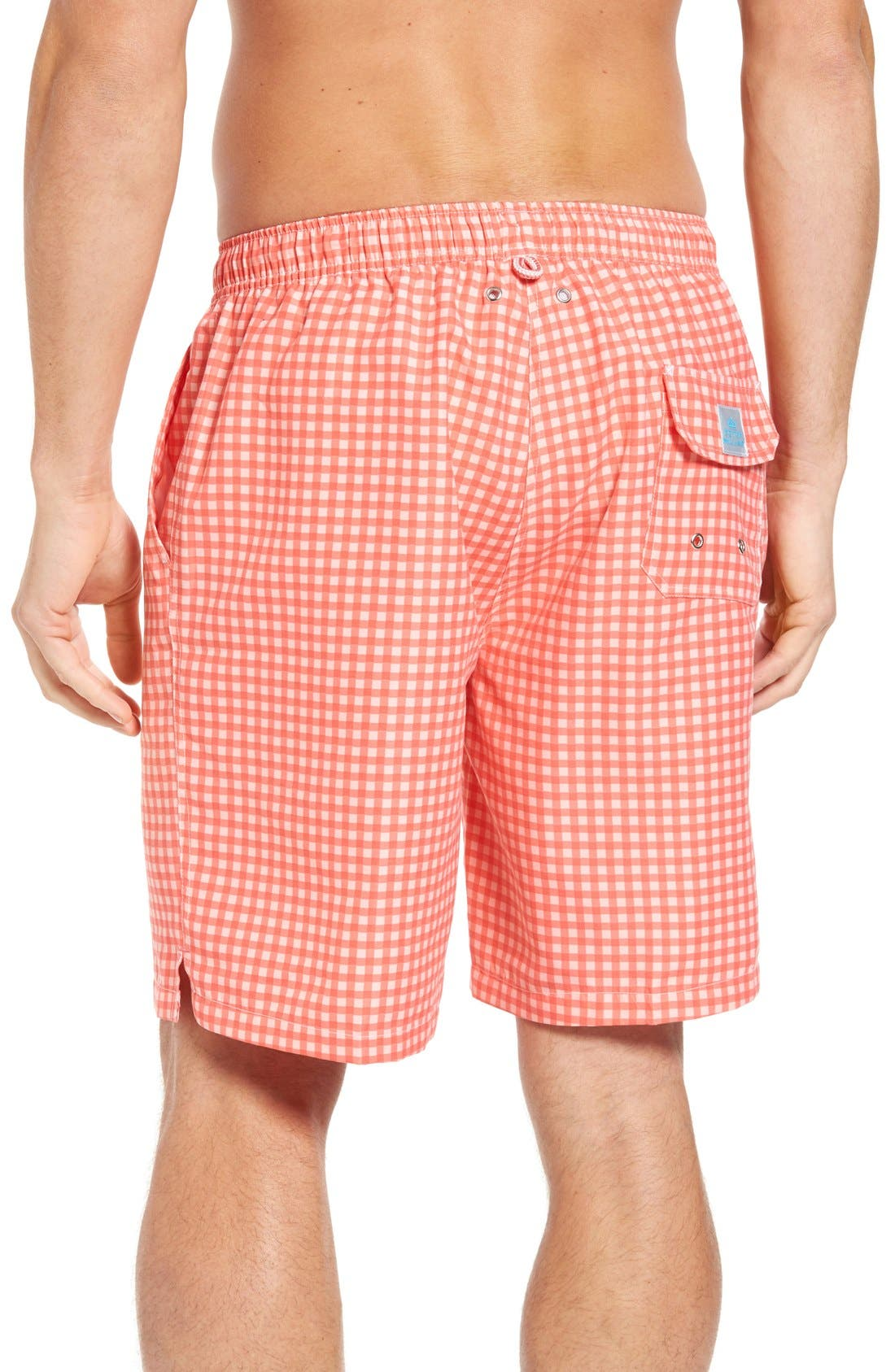 Alternate Image 2  - Peter Millar Gingham Swim Trunks