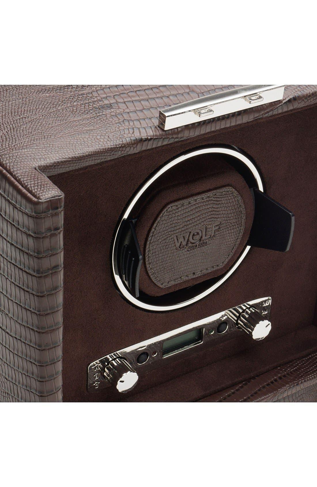 Alternate Image 6  - Wolf Blake Double Watch Winder & Case