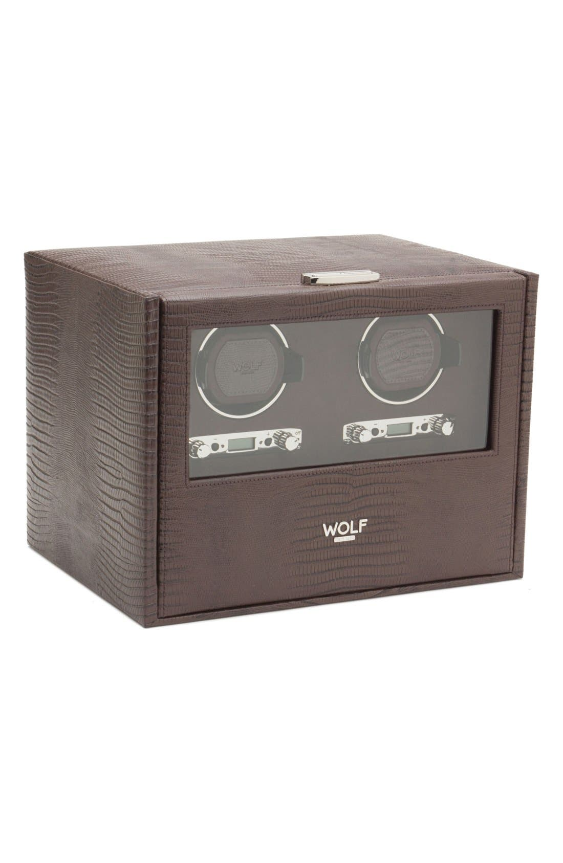 Alternate Image 1 Selected - Wolf Blake Double Watch Winder & Case