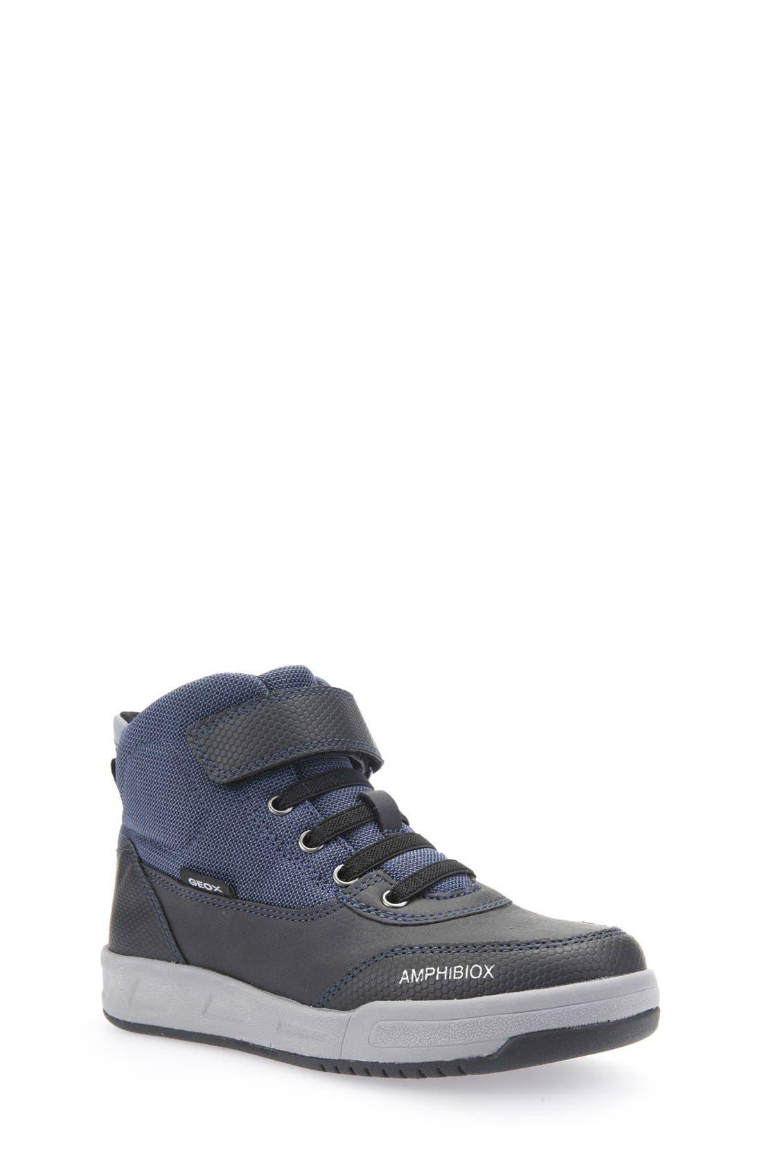 Rolk High Top Sneaker,                         Main,                         color, Navy/ Black