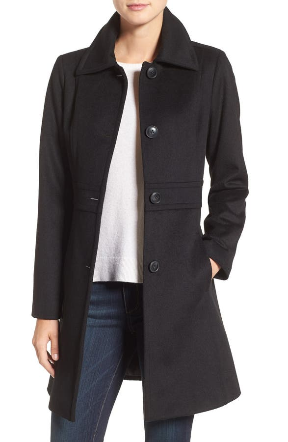 Kristen Blake Wool Blend Walking Coat (Regular & Petite) | Nordstrom