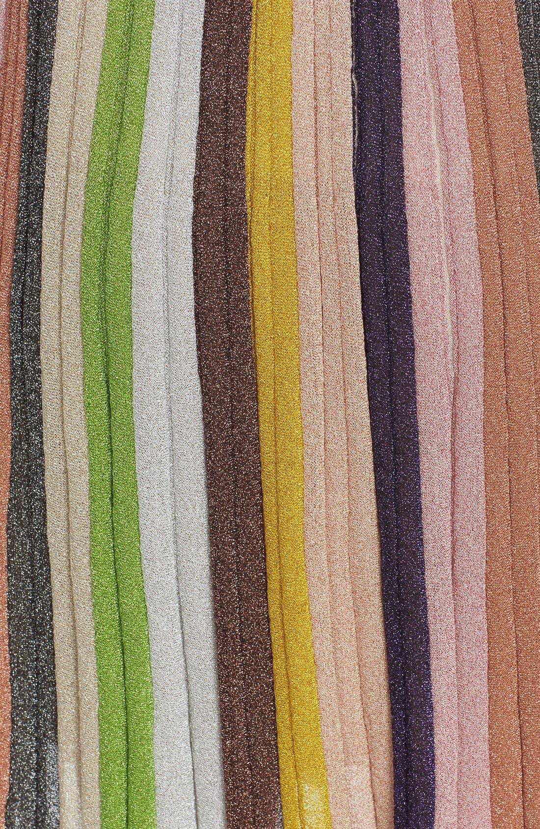 Alternate Image 3  - Missioni Metallic Stripe Skirt