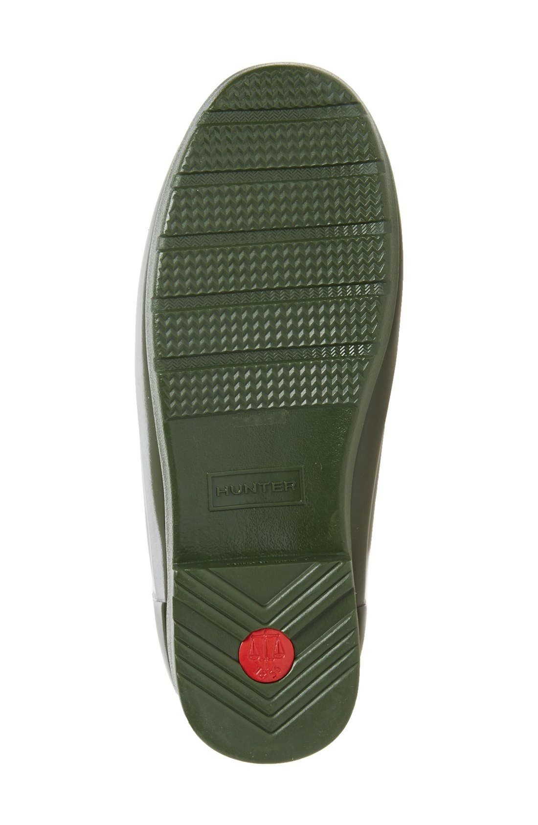 'Original Refined' High Gloss Rain Boot,                             Alternate thumbnail 6, color,                             Dark Olive