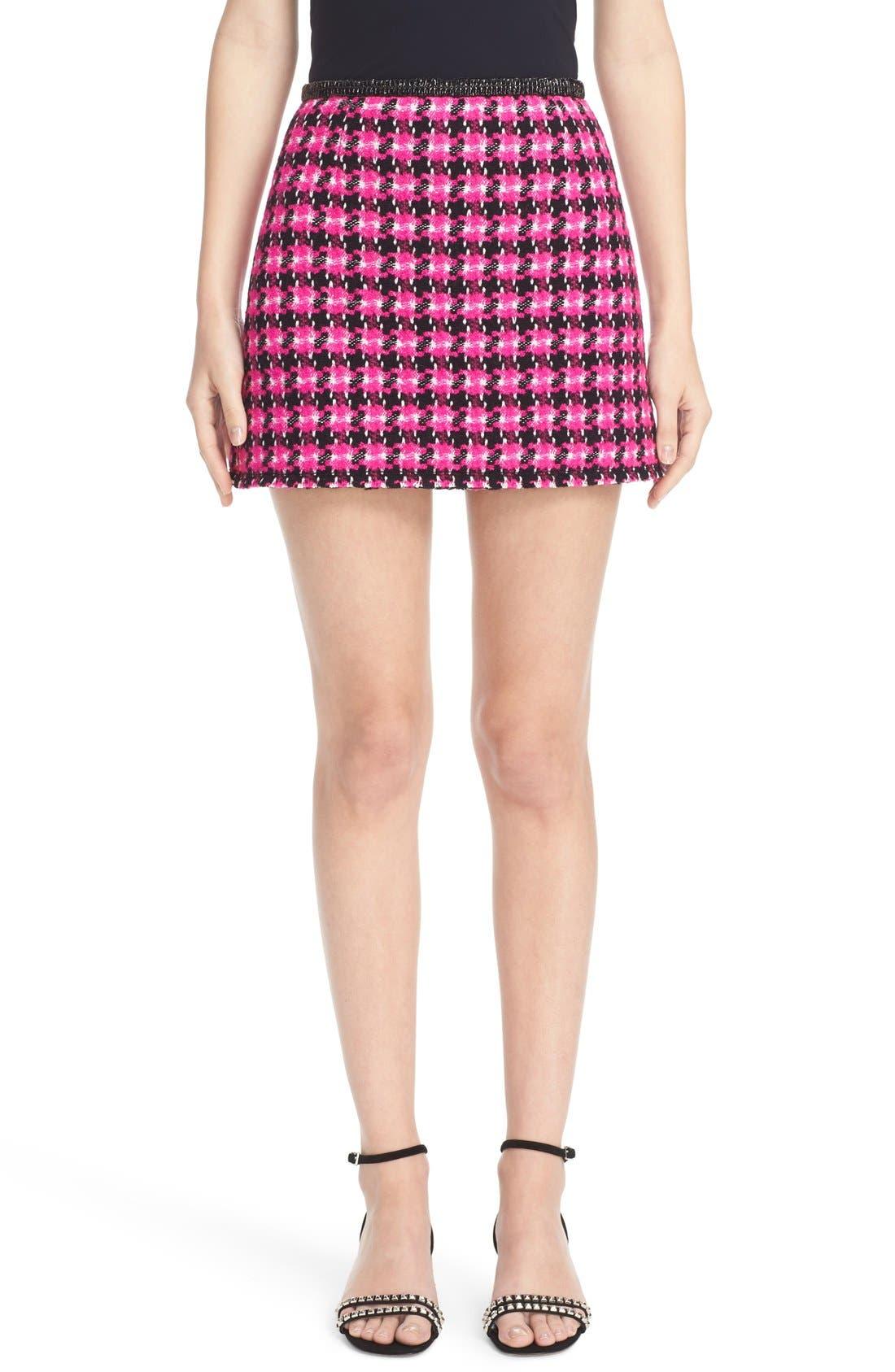 Main Image - MARC JACOBS Geo Tweed Miniskirt