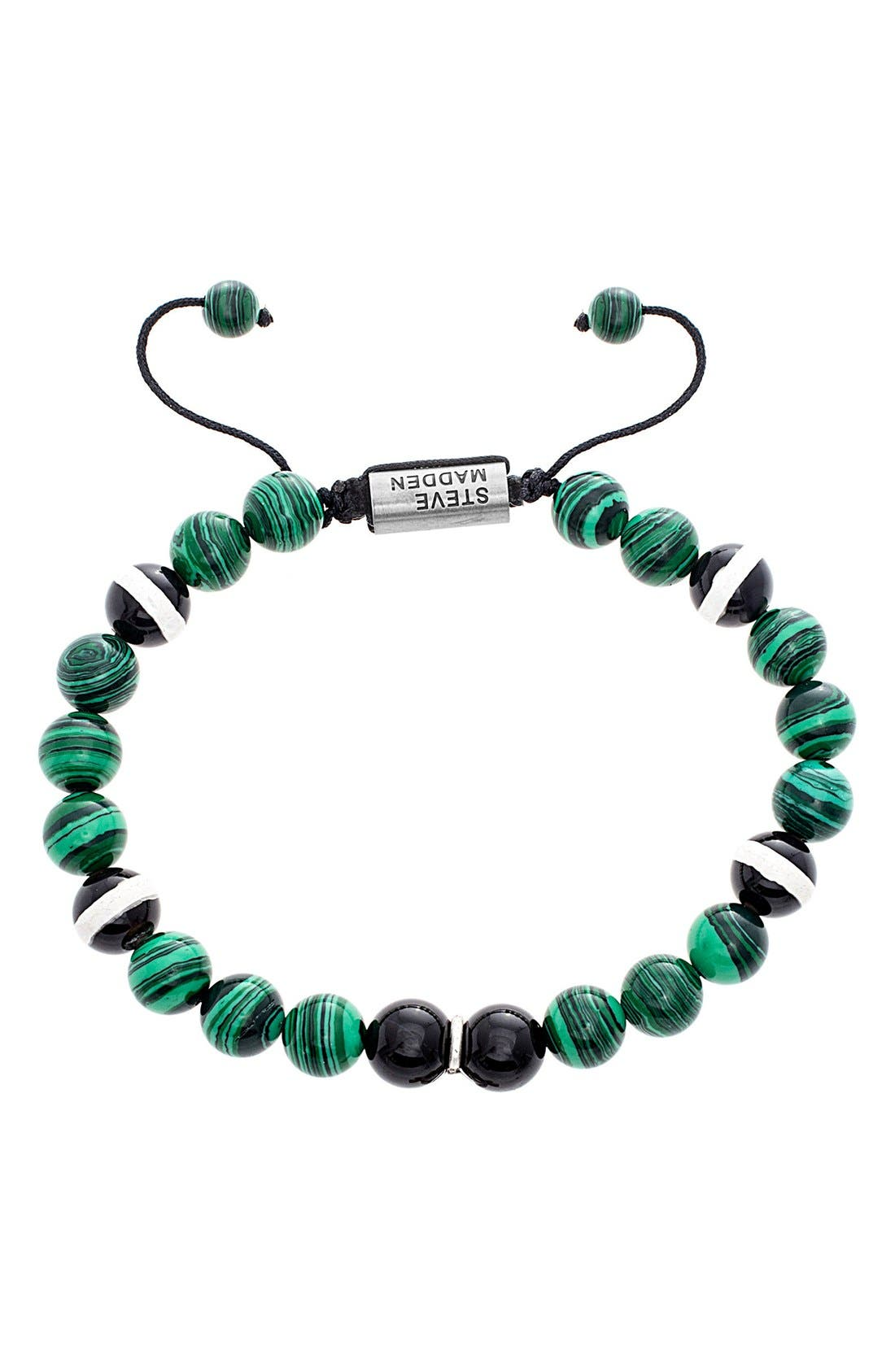 Malachite Bread Bracelet,                             Main thumbnail 1, color,                             Green