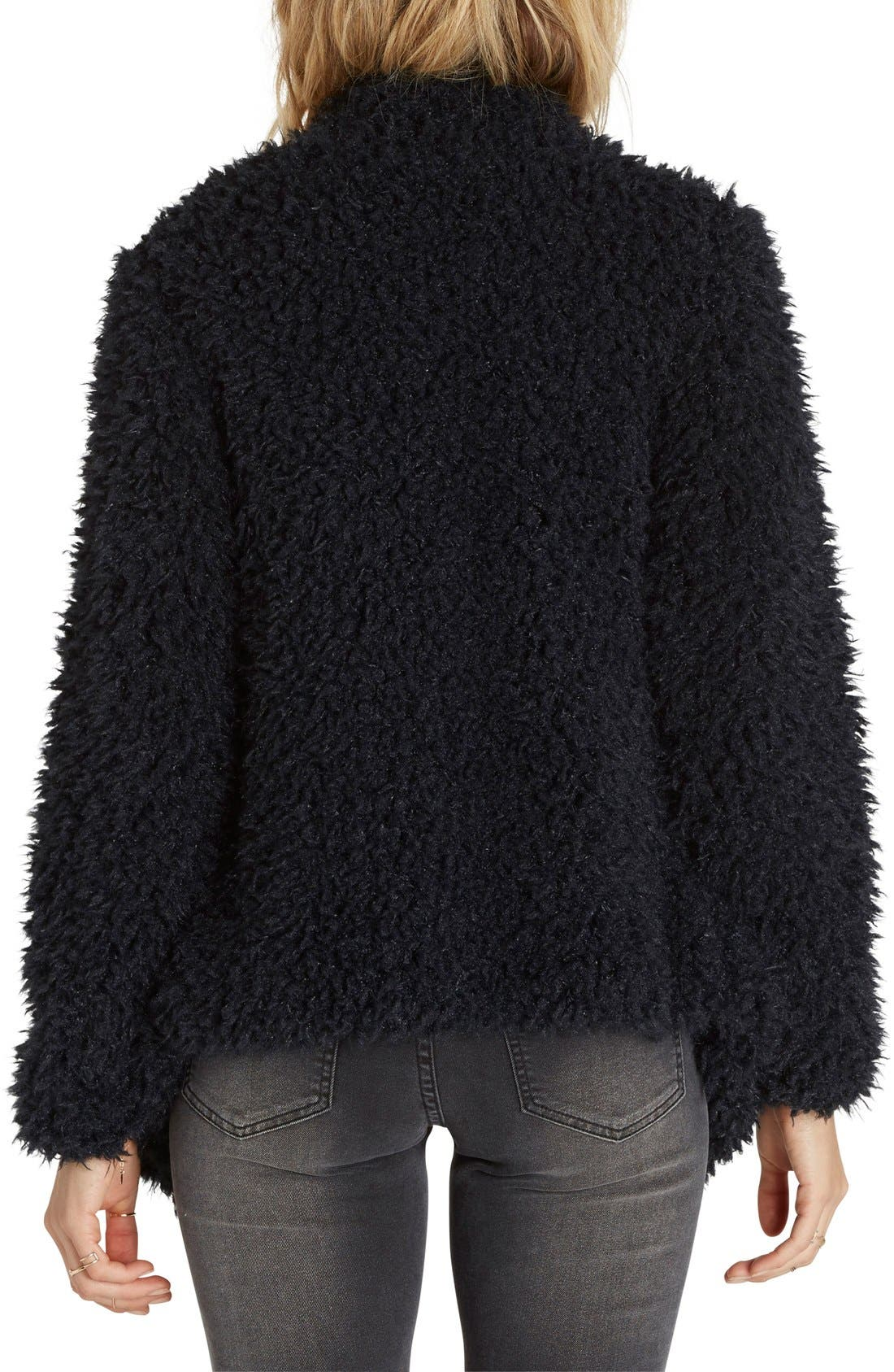 Alternate Image 2  - Billabong Do It Fur Love Faux Fur Jacket