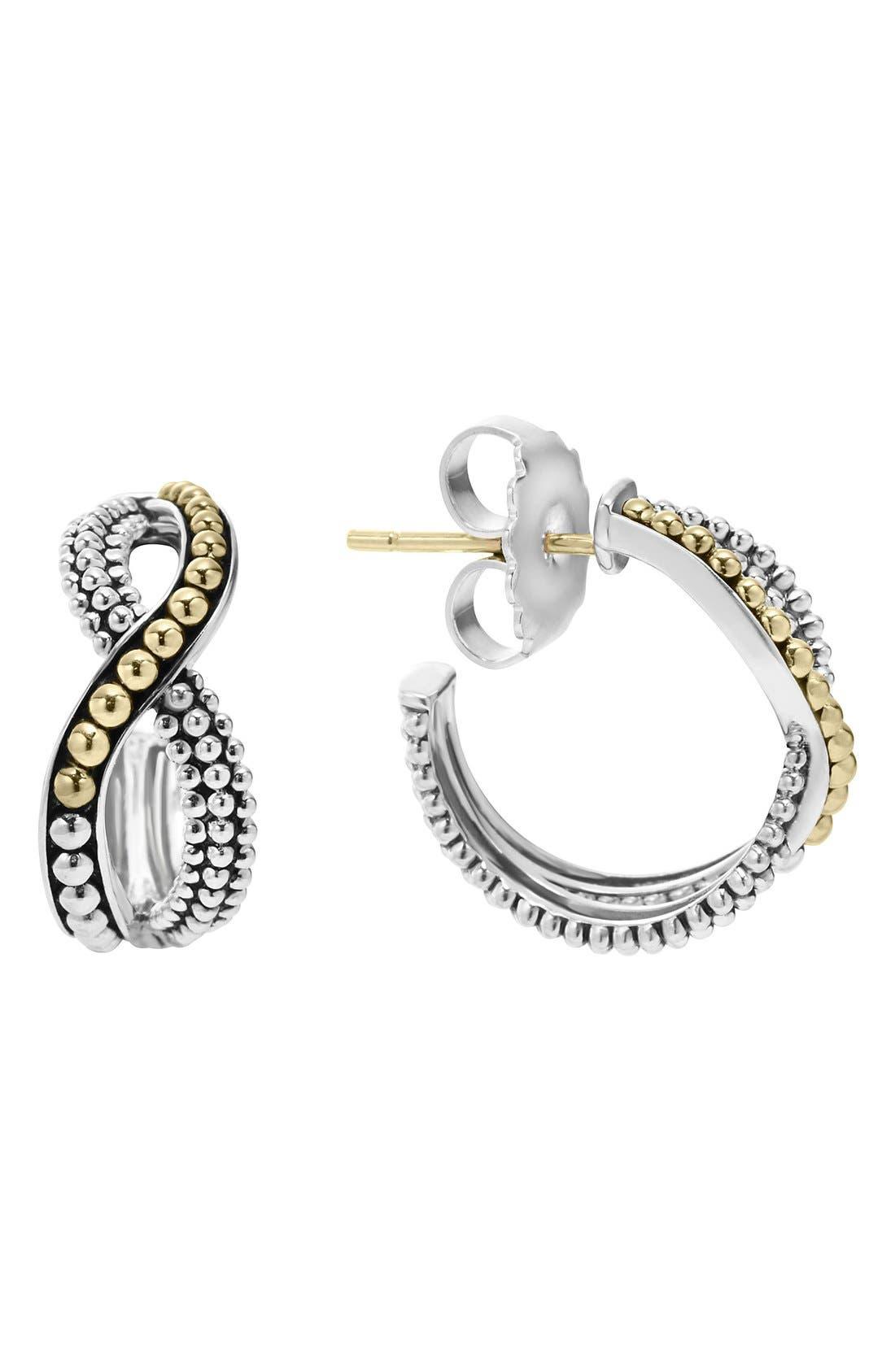 LAGOS Infinity Double Twist Hoop Earrings