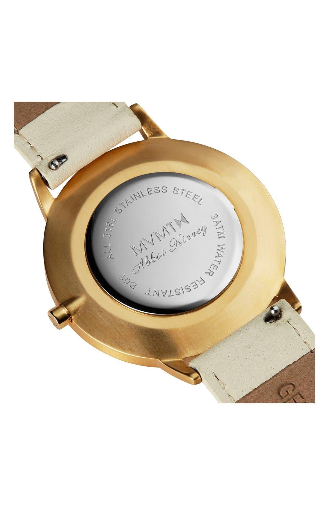 Alternate Image 3  - MVMT Boulevard Leather Strap Watch, 38mm