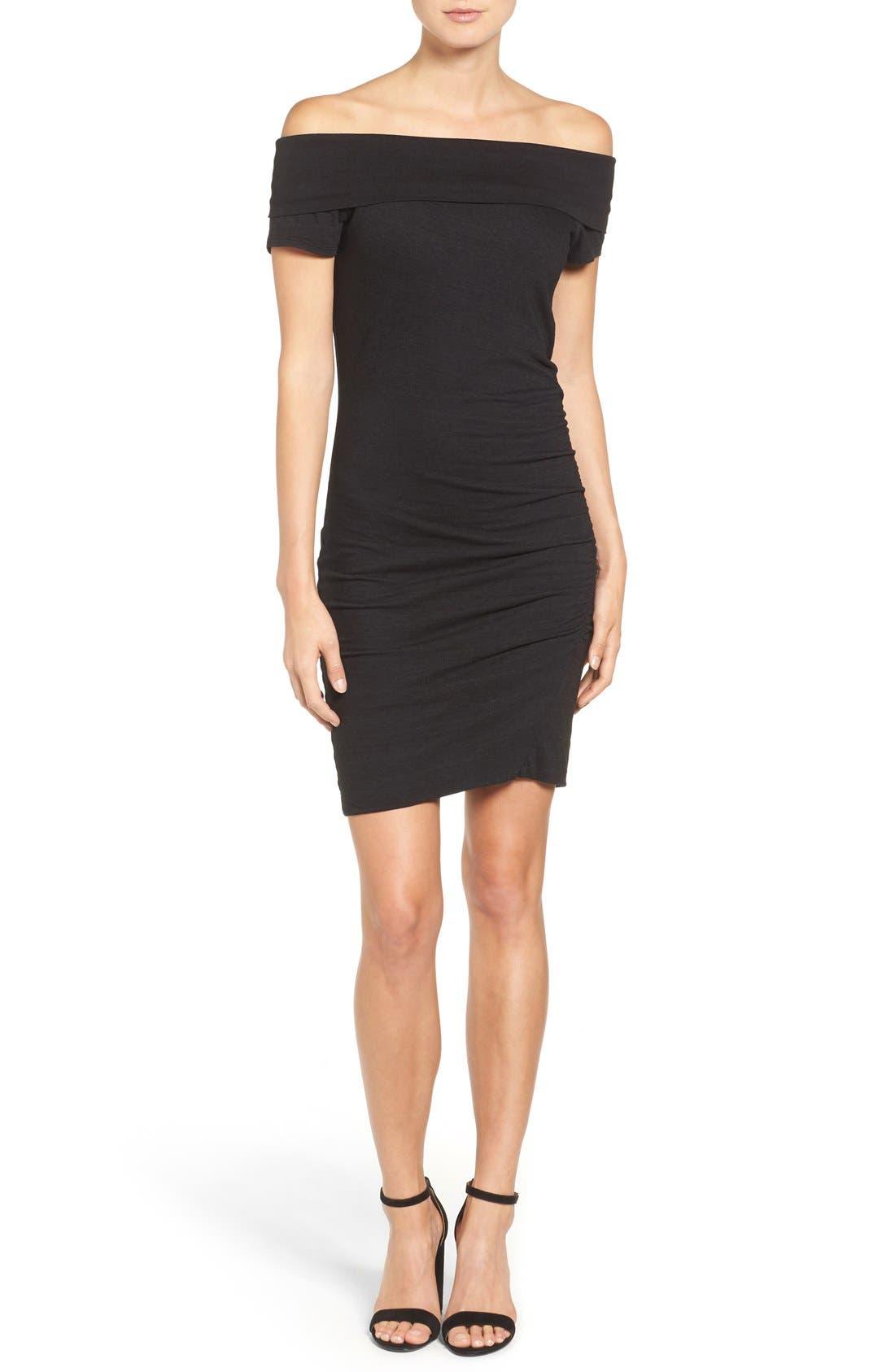Alternate Image 1 Selected - Pam & Gela Off the Shoulder Body-Con Dress