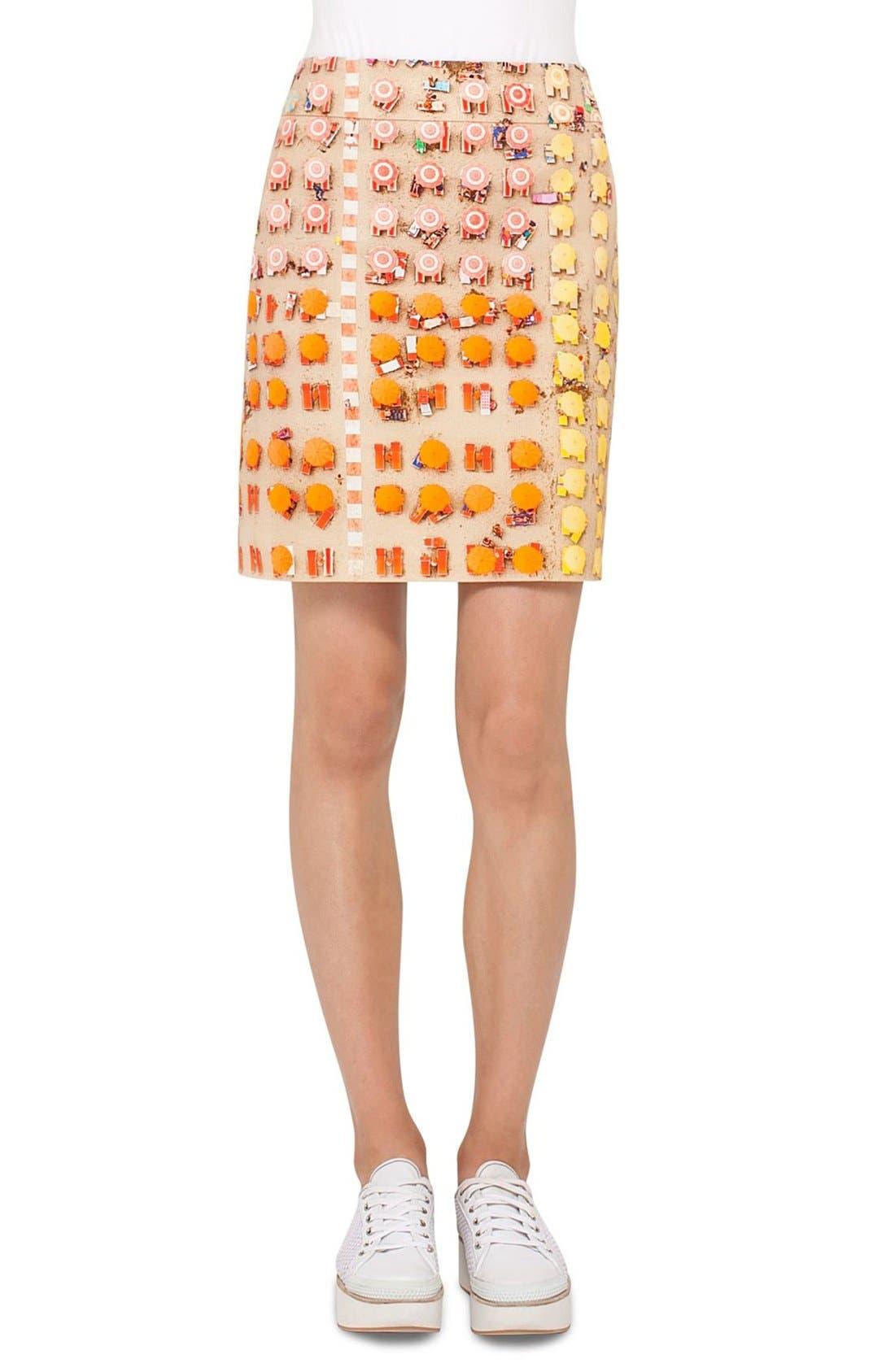 Alternate Image 1 Selected - Akris punto Riviera Print A-Line Skirt