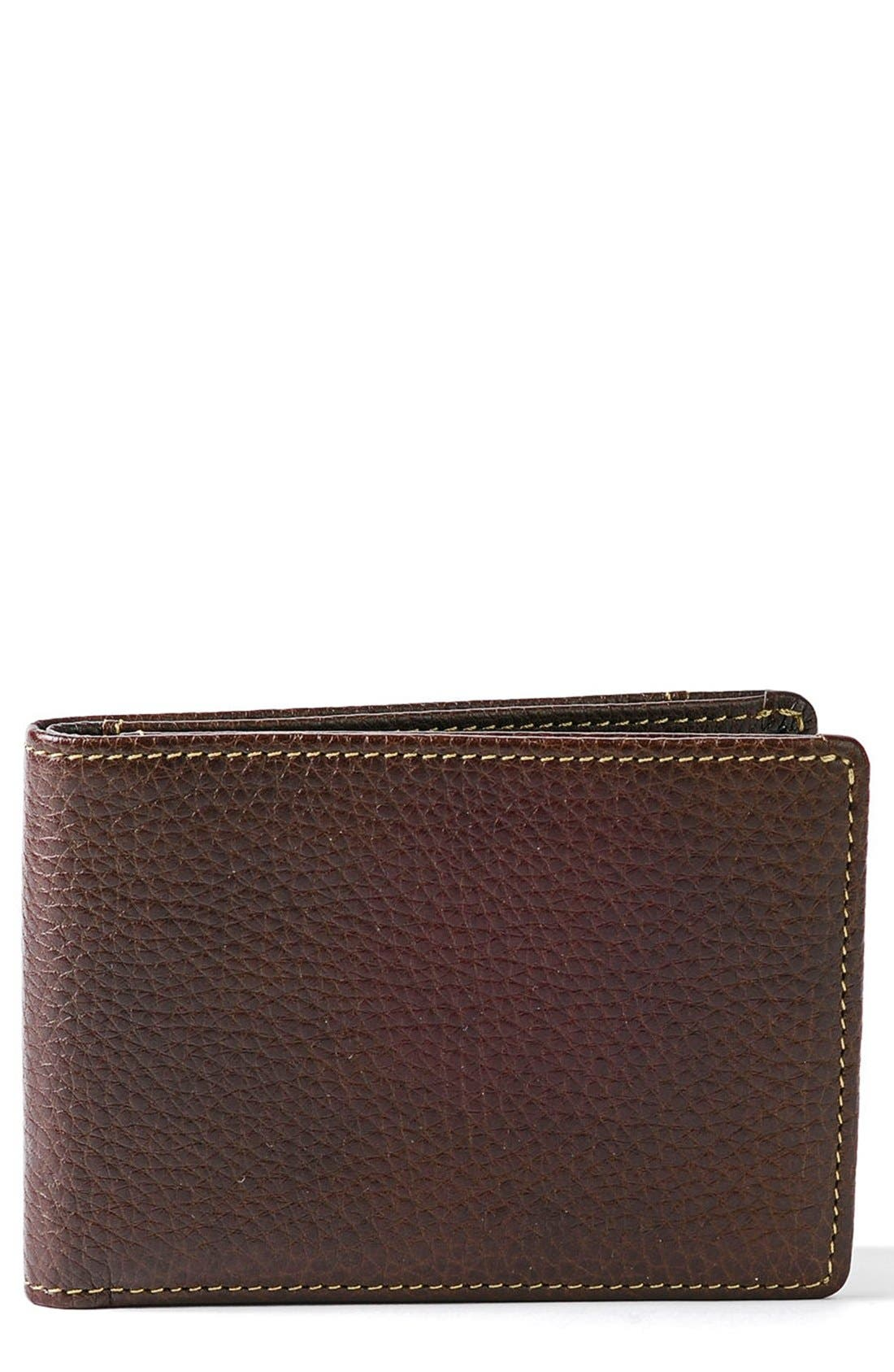 'Tyler' RFID Slimster Wallet,                             Main thumbnail 1, color,                             Coffee
