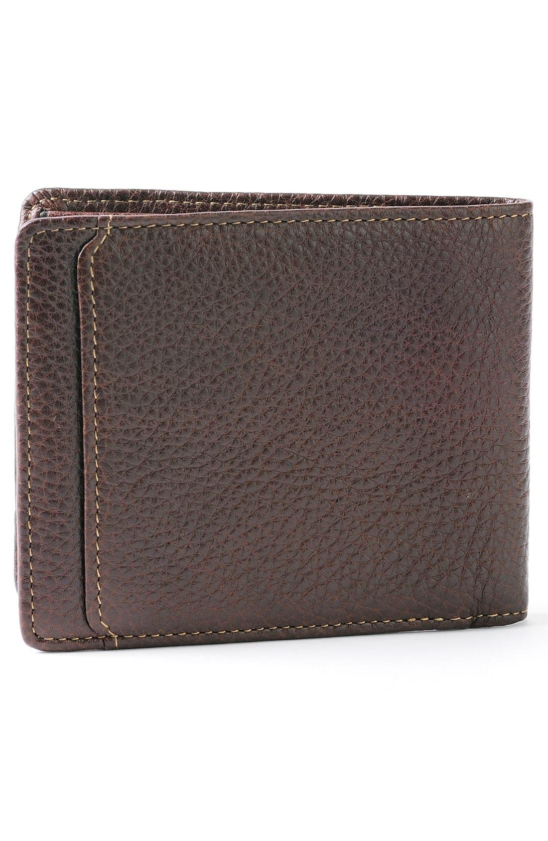 'Tyler' RFID Wallet,                             Alternate thumbnail 3, color,                             Coffee