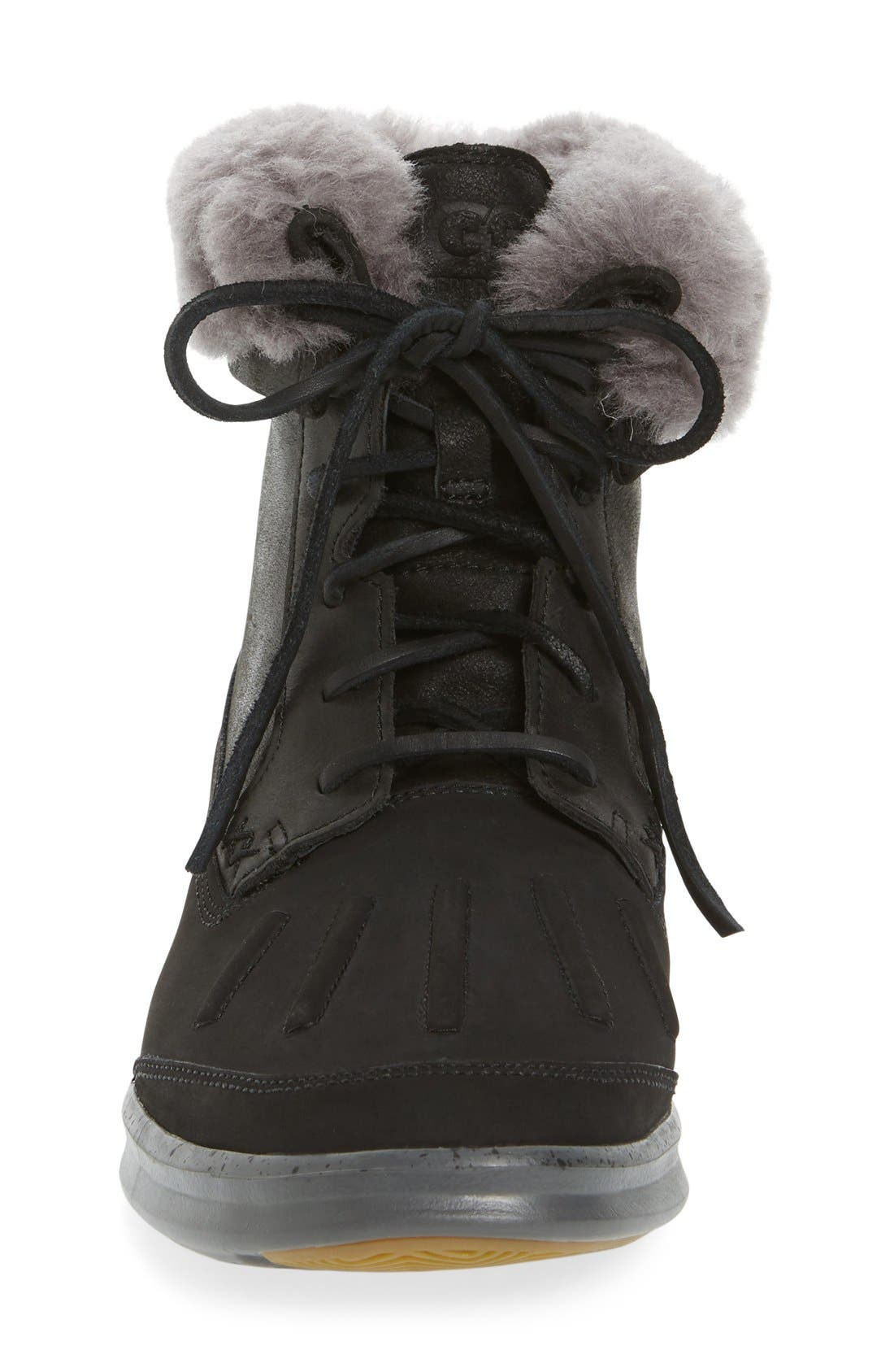 Roskoe Snow Boot,                             Alternate thumbnail 3, color,                             Black
