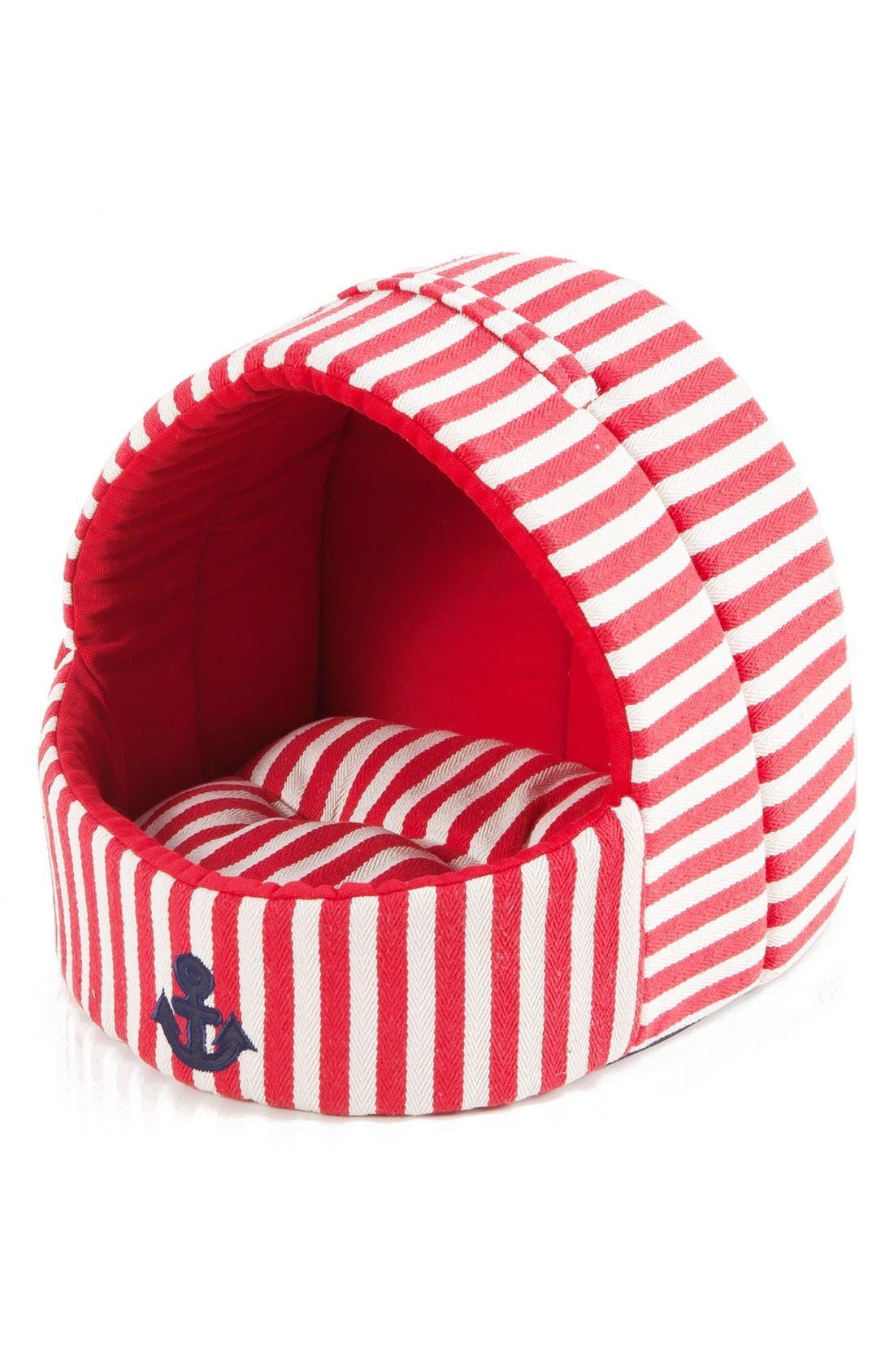 Dante Stripe Pet House,                         Main,                         color, Red
