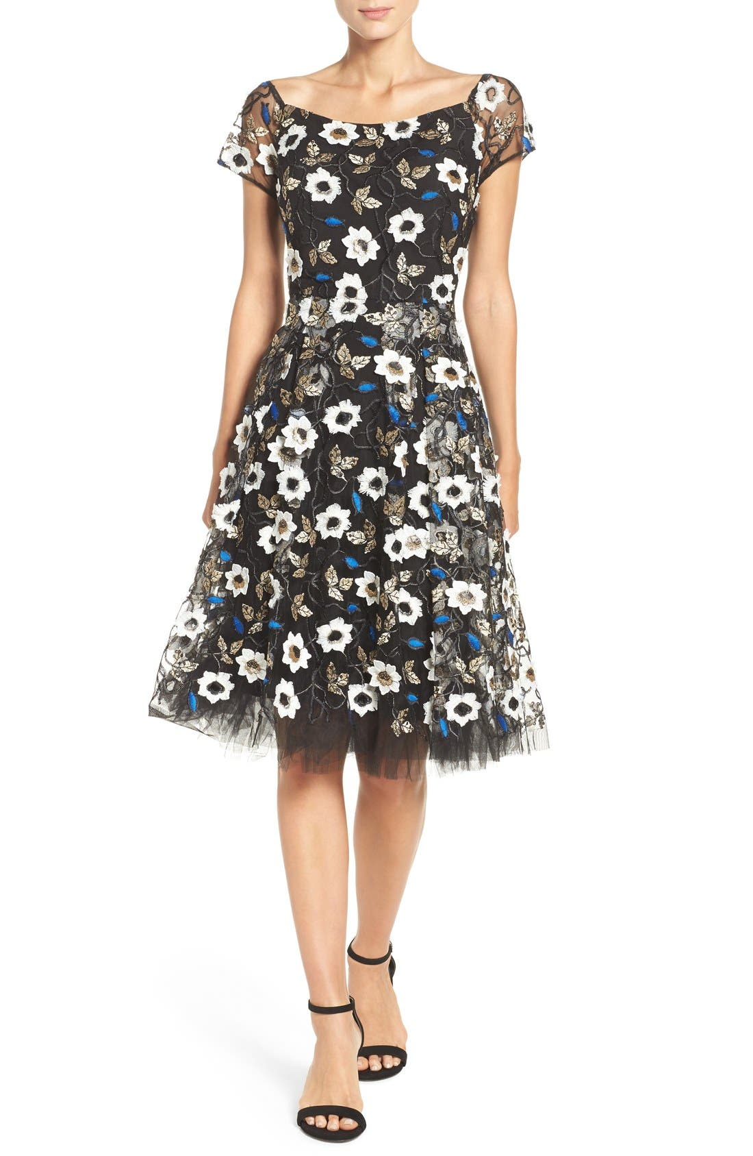 Alternate Image 4  - ECI Sequin Embroidered Fit & Flare Dress