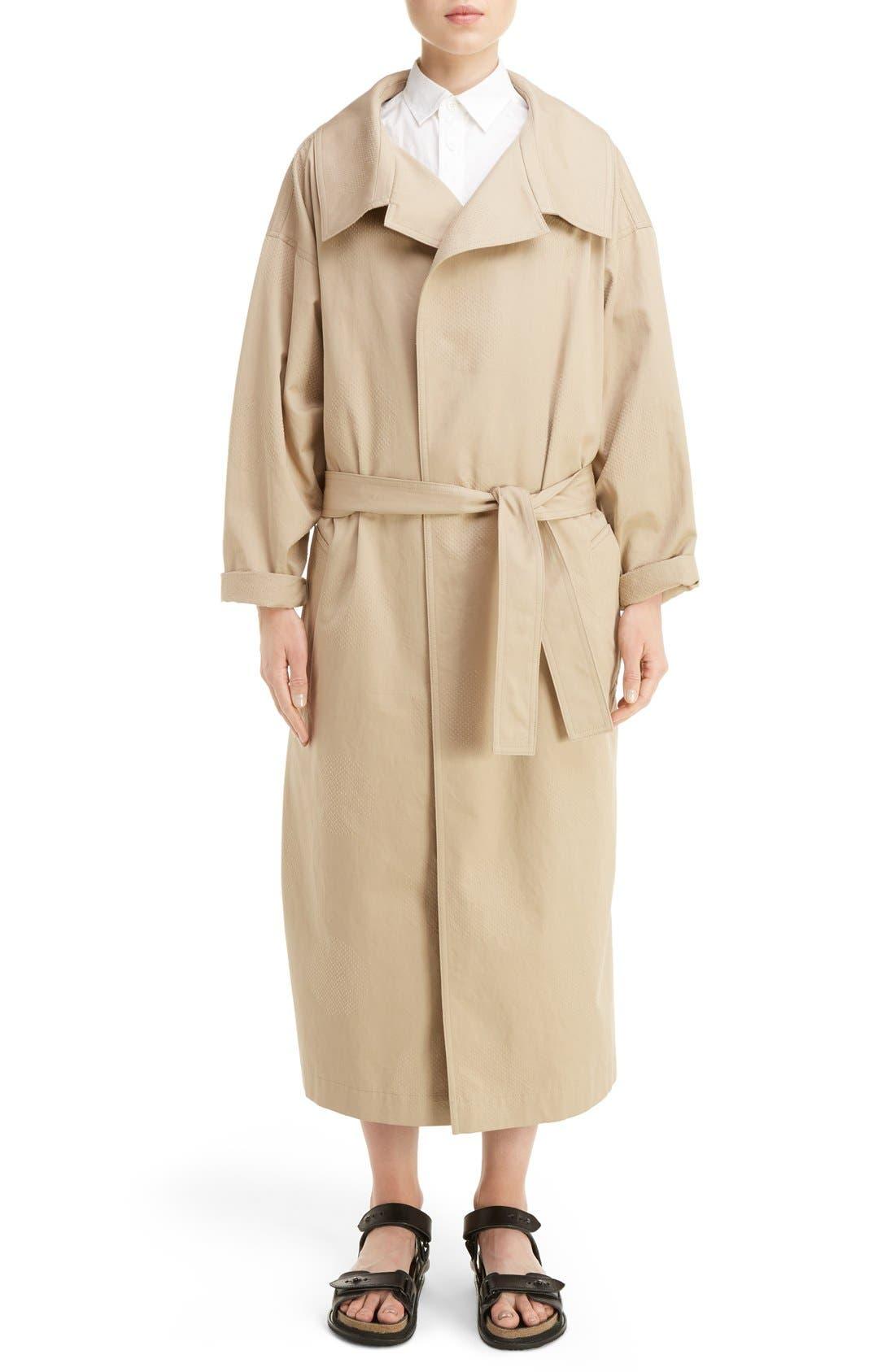 U-Gown Coat,                             Alternate thumbnail 6, color,                             Beige