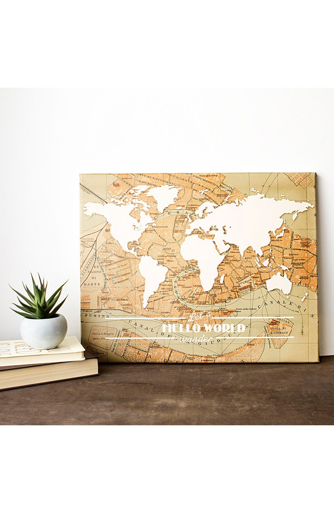 Travel the World Wall Art,                         Main,                         color, Brown