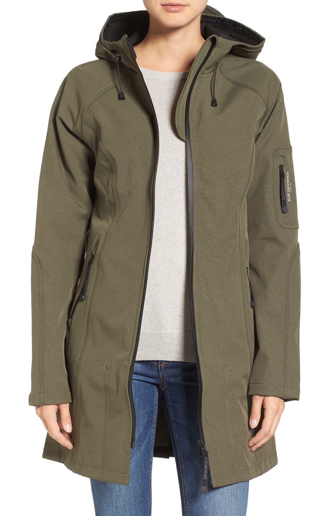 Alternate Image 1 Selected - Ilse Jacobsen Regular Fit Hooded Raincoat