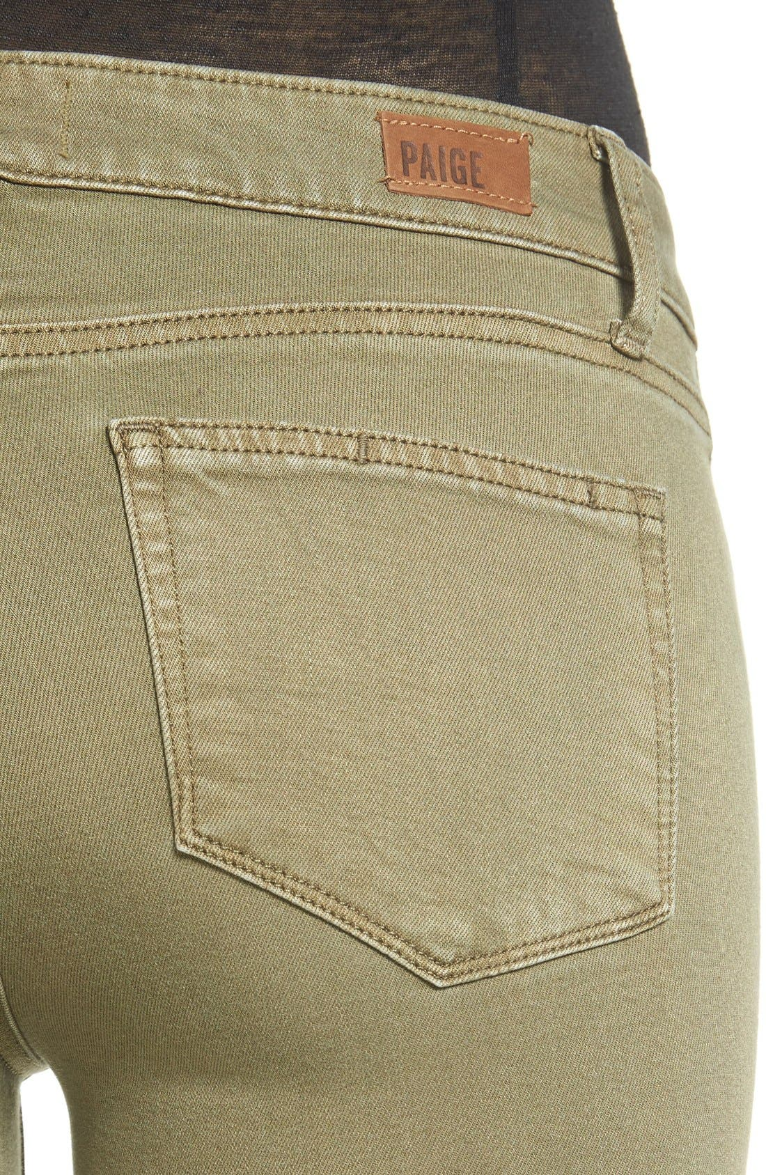 Transcend - Verdugo Ankle Skinny Jeans,                             Alternate thumbnail 3, color,                             Sahara Green