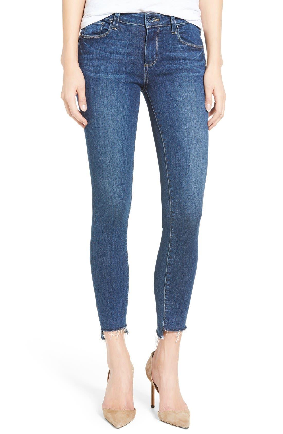 Main Image - PAIGE Legacy - Verdugo Step Hem Skinny Jeans (Lane)